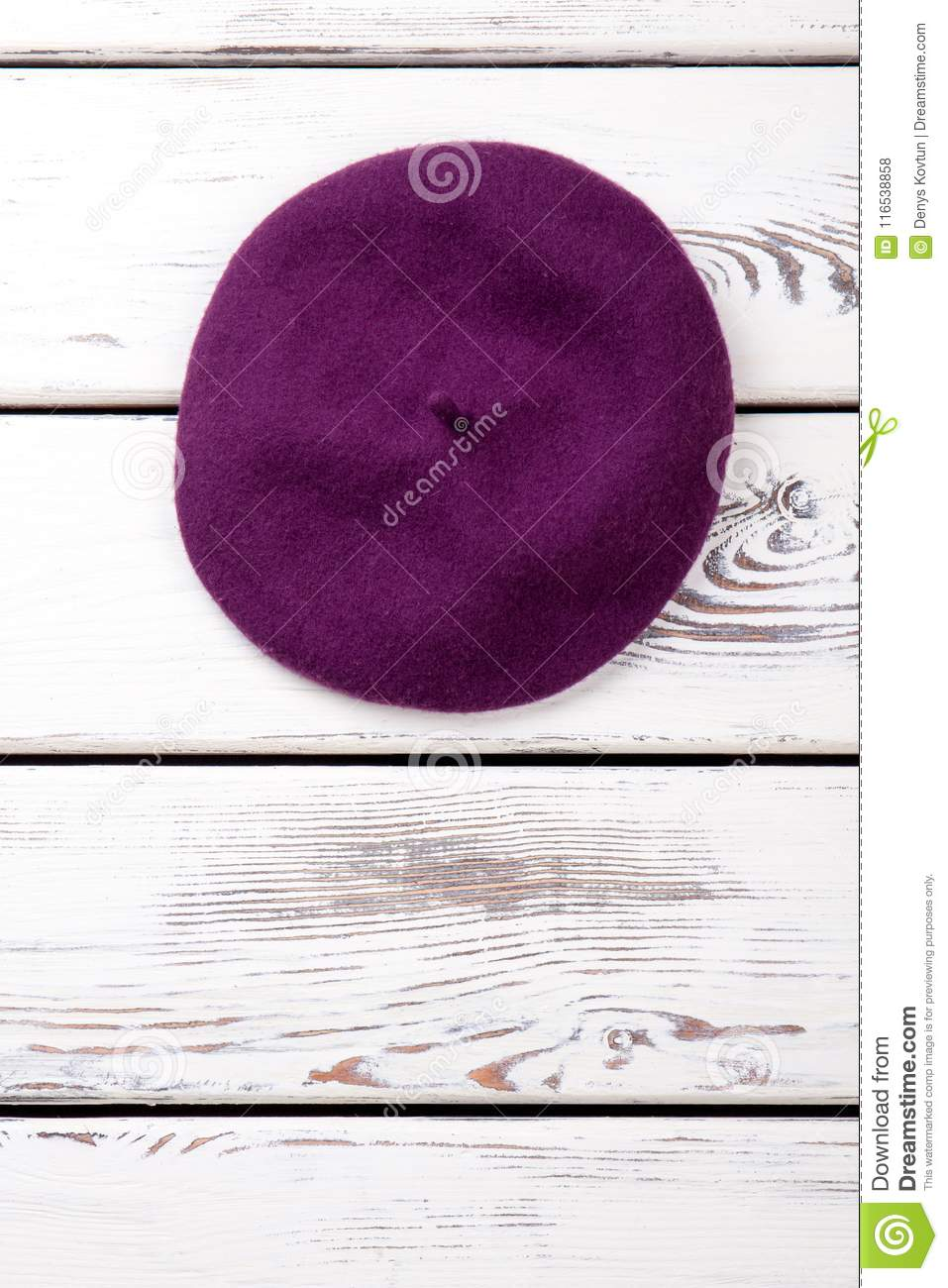 a6bdc419fe5 Feminine Wool Beret And Copy Space. Stock Photo - Image of accessory ...