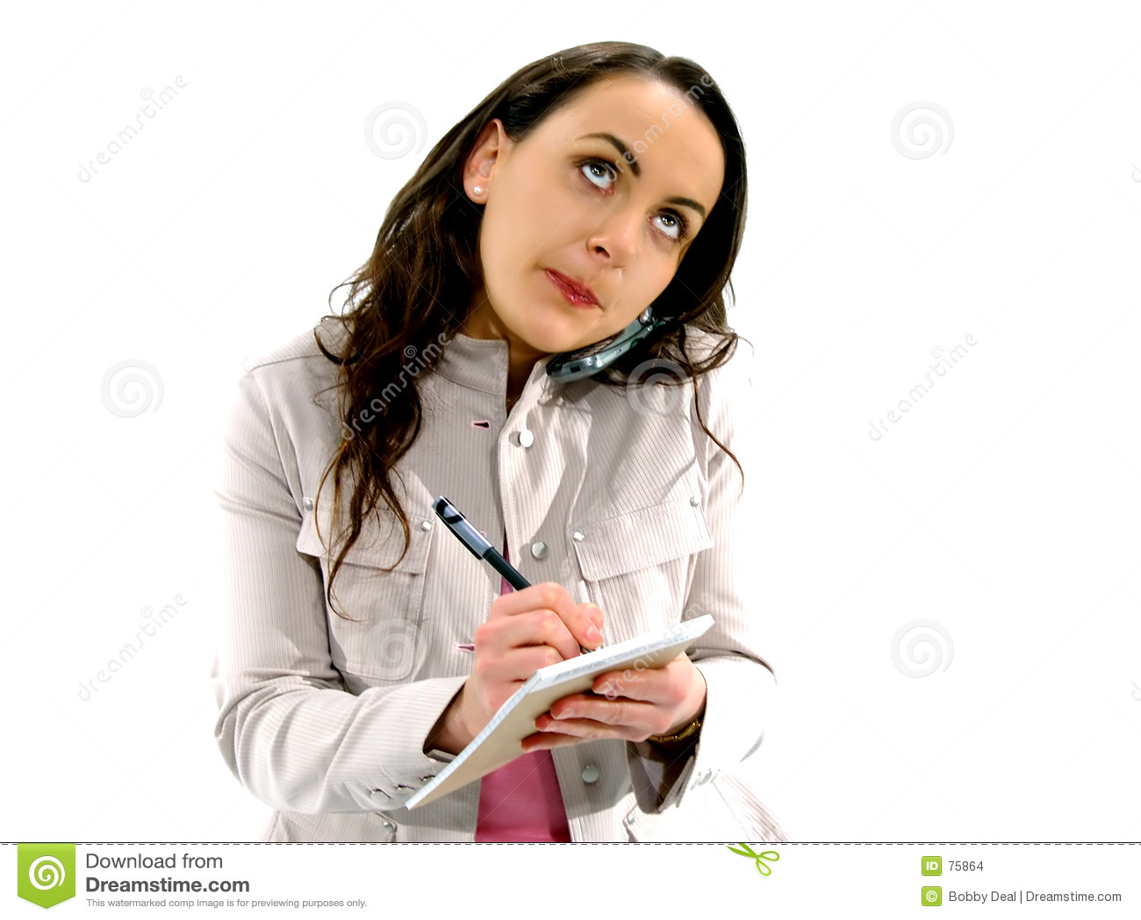 Femme 3 de téléphone portable