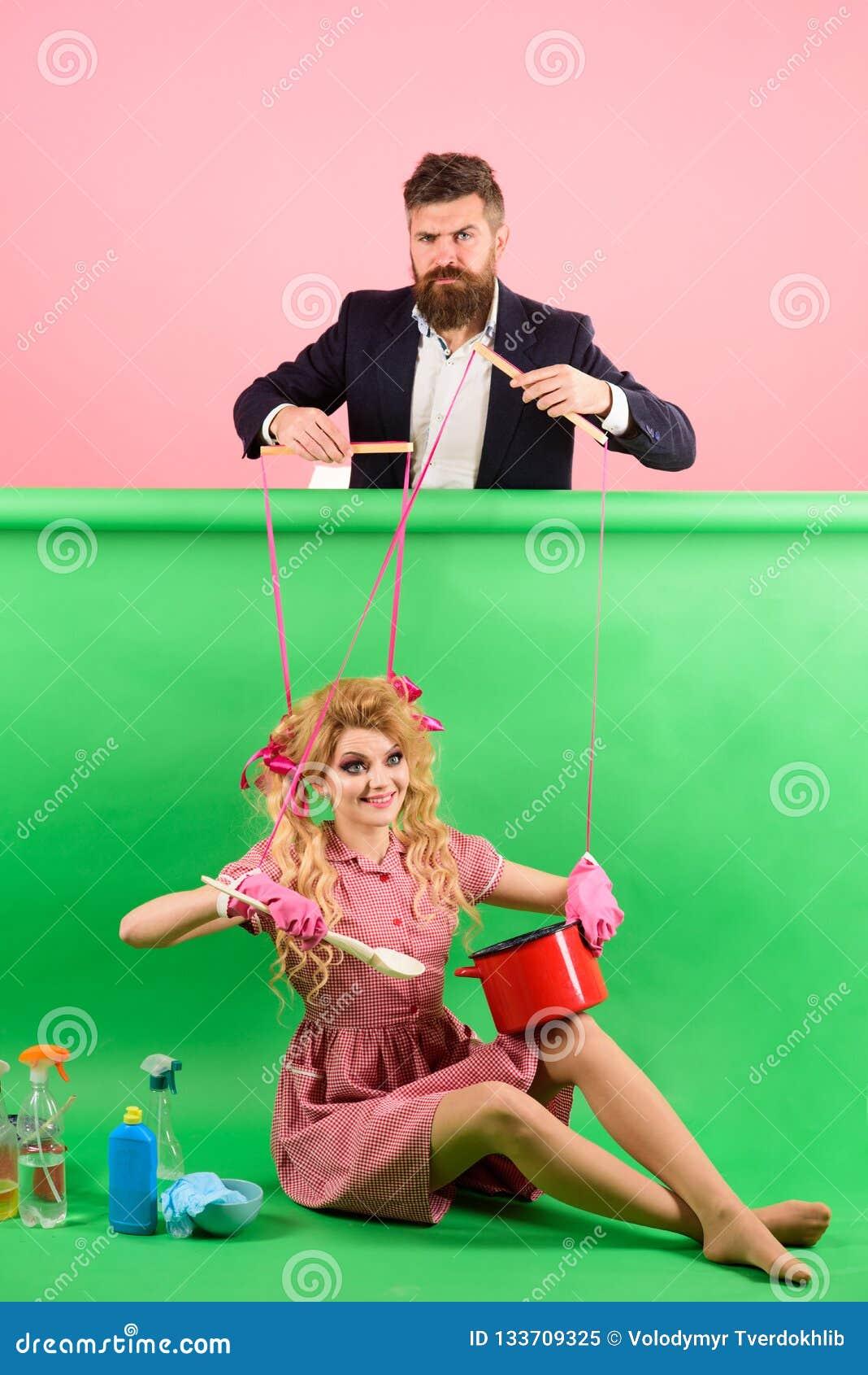 99881f7d8e2 Femme au foyer Tellement amusement idée créatrice Amour femmes marionnette  et homme de mode de cru