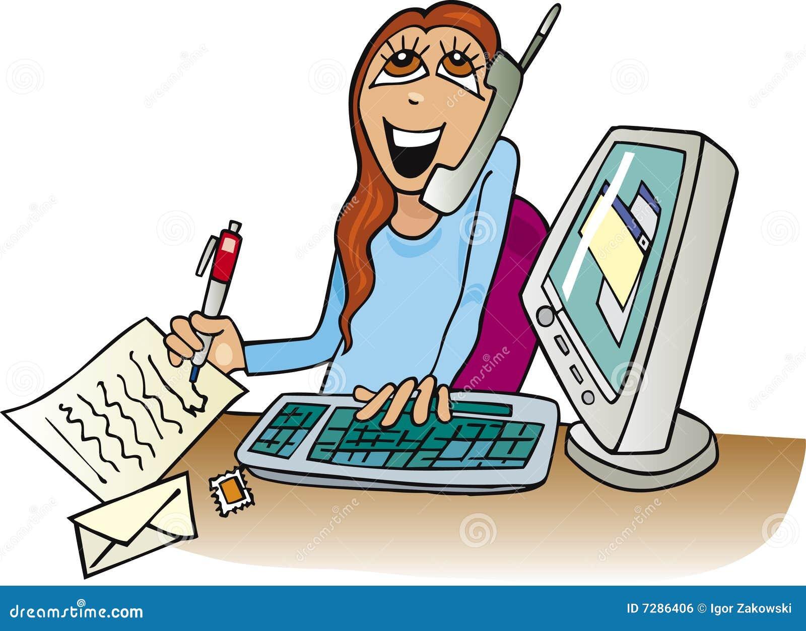 foto de Femme Au Travail Dans Le Bureau Illustration de Vecteur