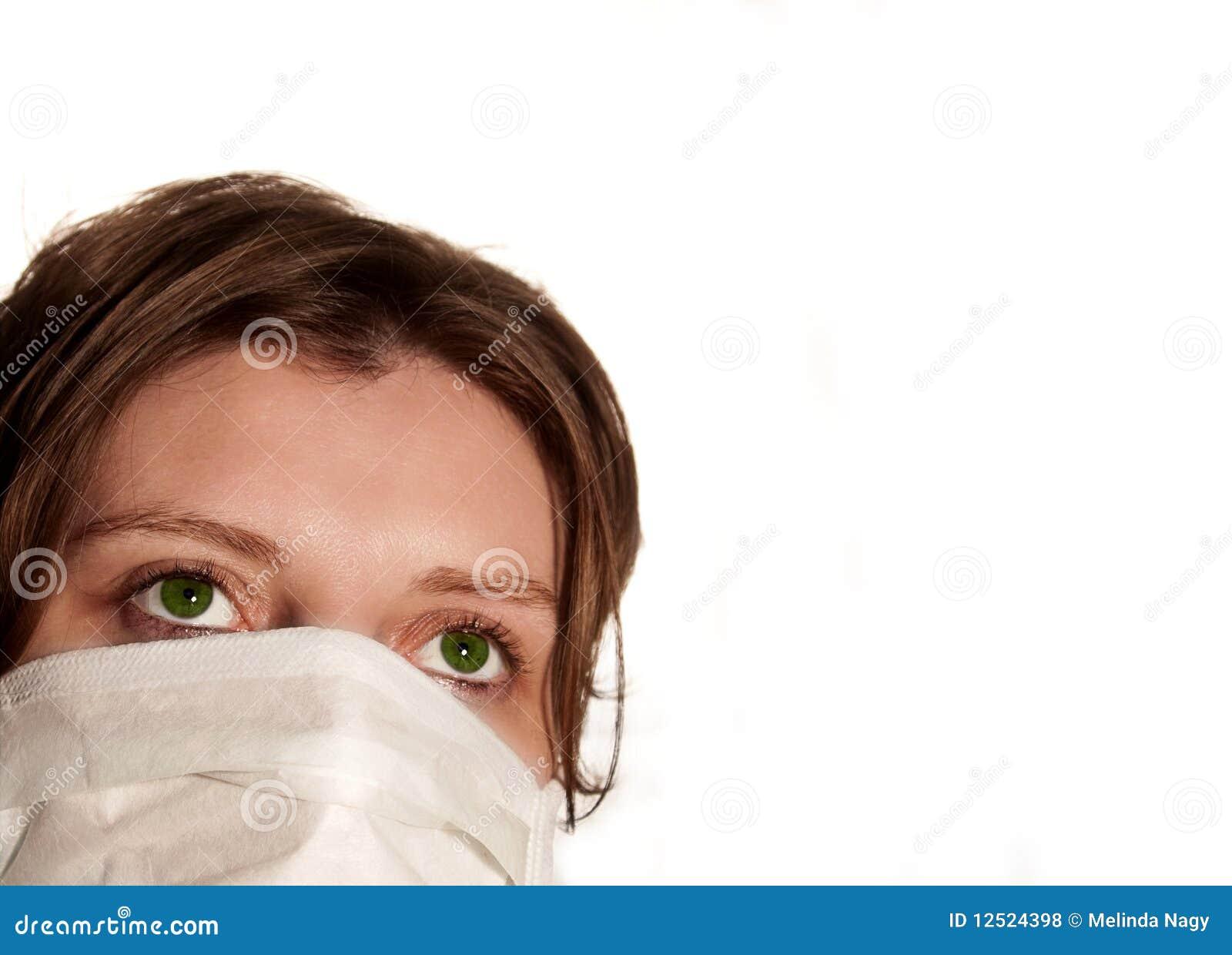 masque yeux virus