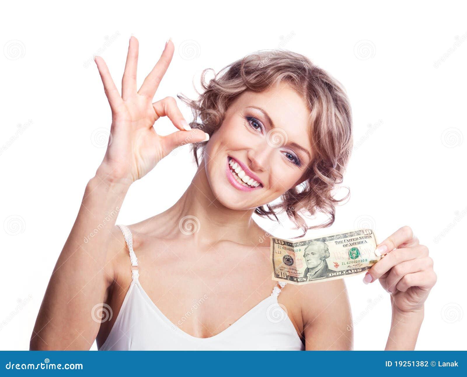 Femme avec de l argent