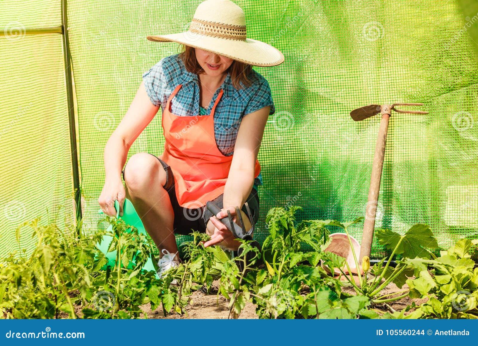 outils jardinage femme