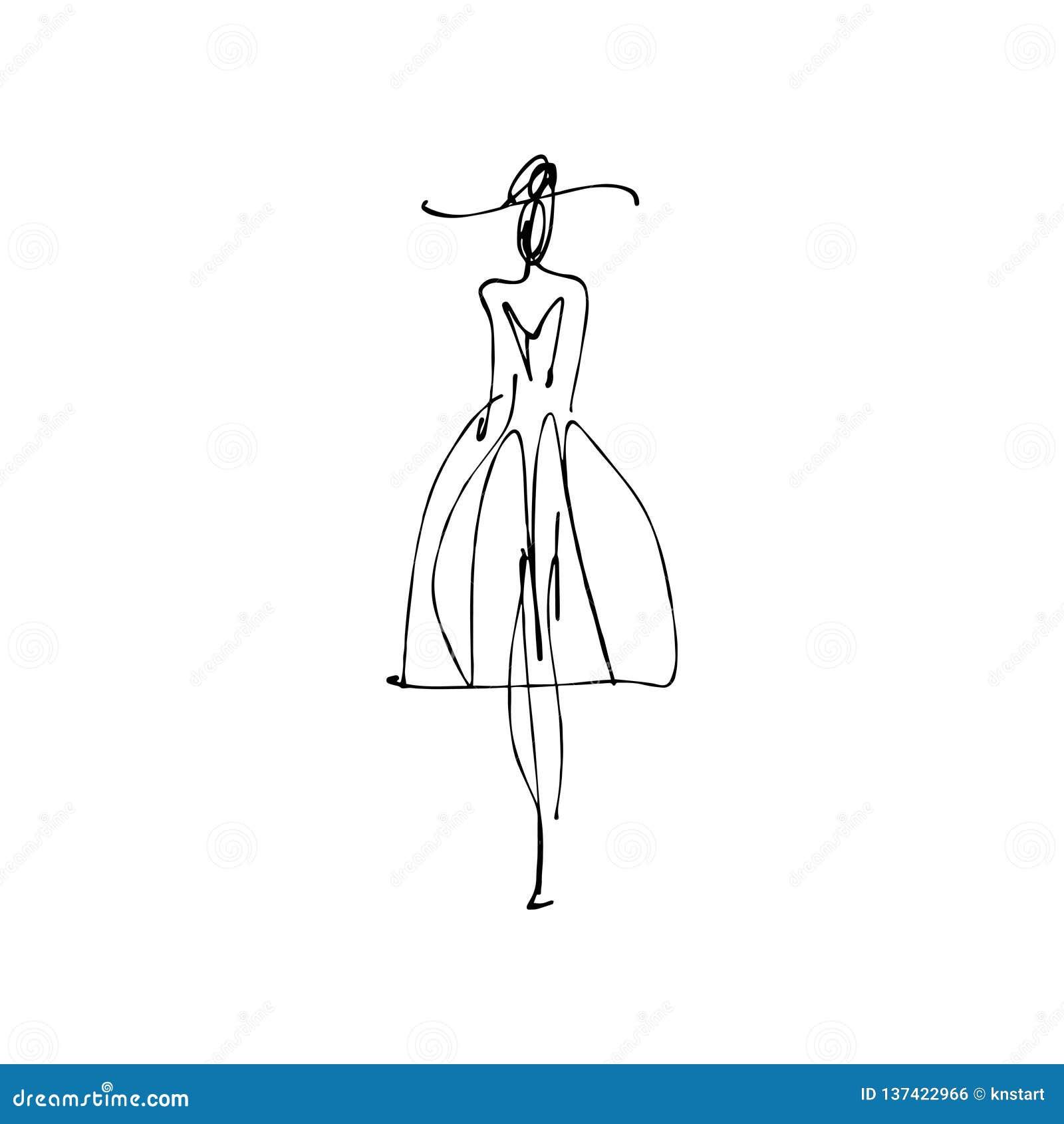 prix incroyables rechercher les plus récents tout neuf Avec Chapeau Le Main Par La De Femme Tiré Mannequin Croquis ...