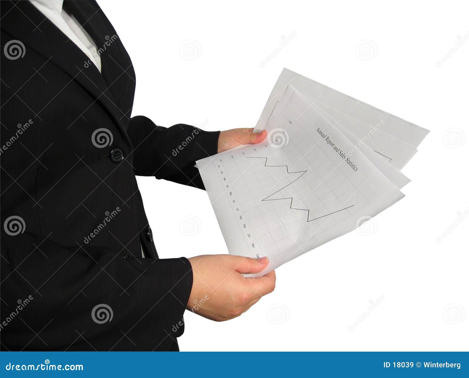 Femme avec le diagramme