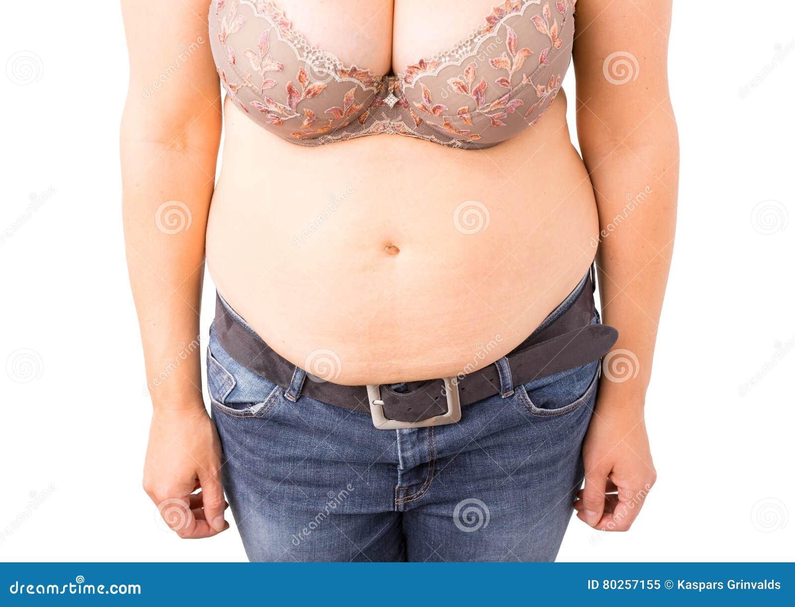 femme avec le gros ventre image stock image du perte 80257155. Black Bedroom Furniture Sets. Home Design Ideas
