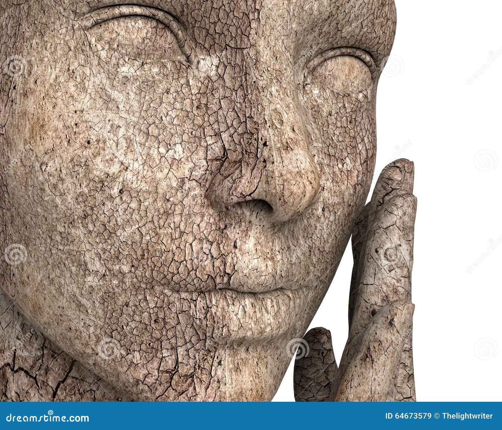 Femme avec très la peau sèche d isolement sur le blanc