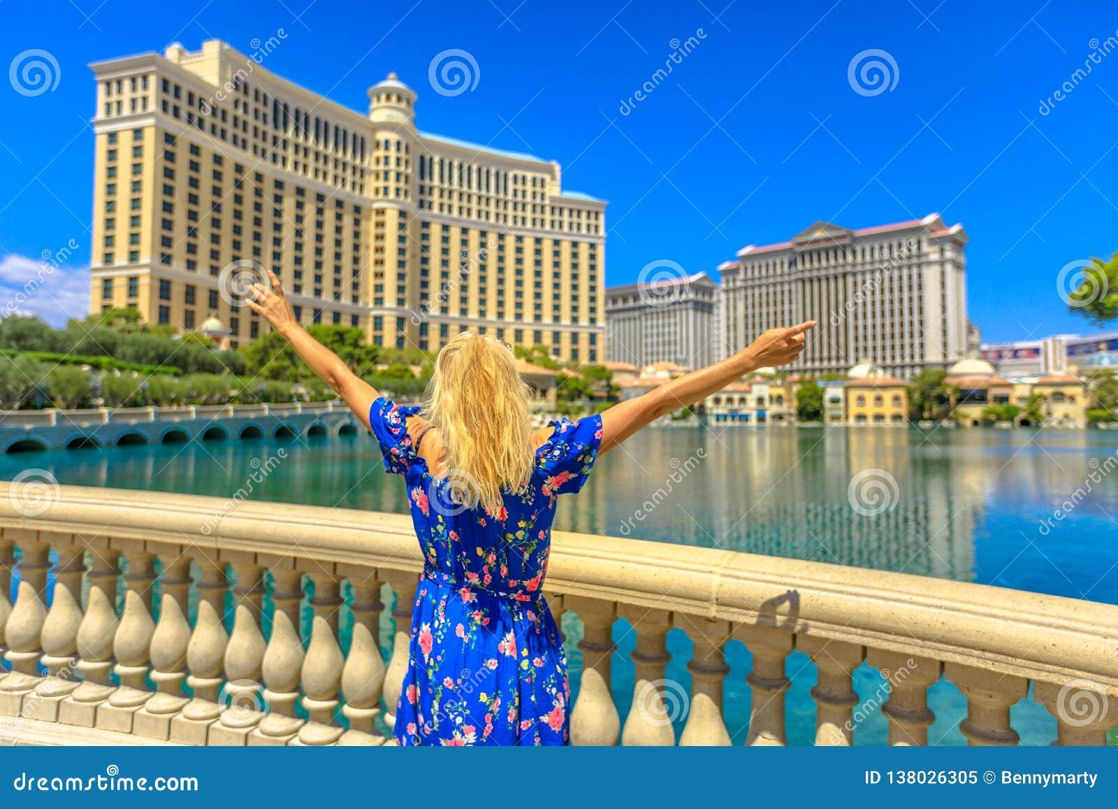 Femme d été de Las Vegas