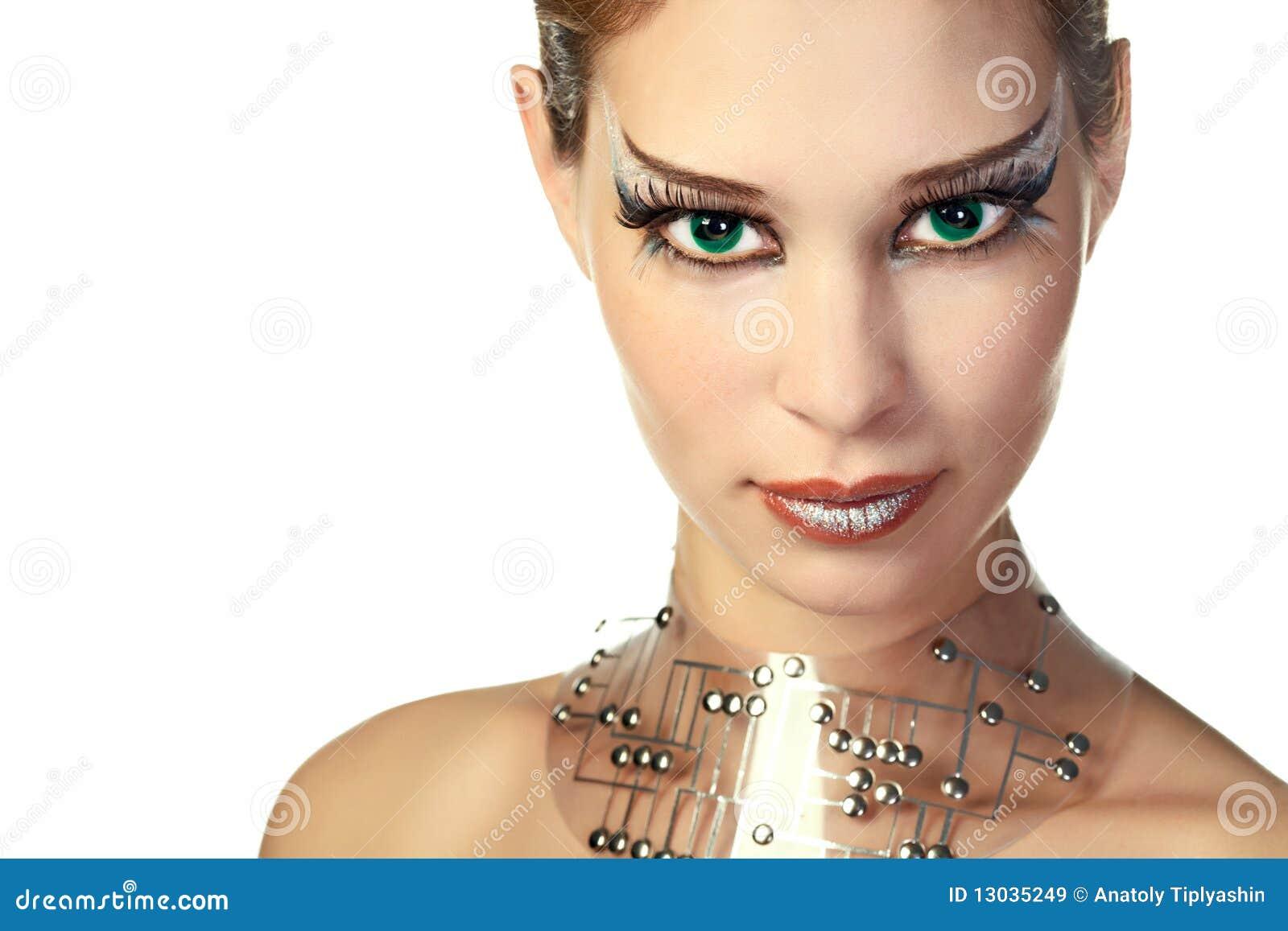 Femme d étranger de beauté