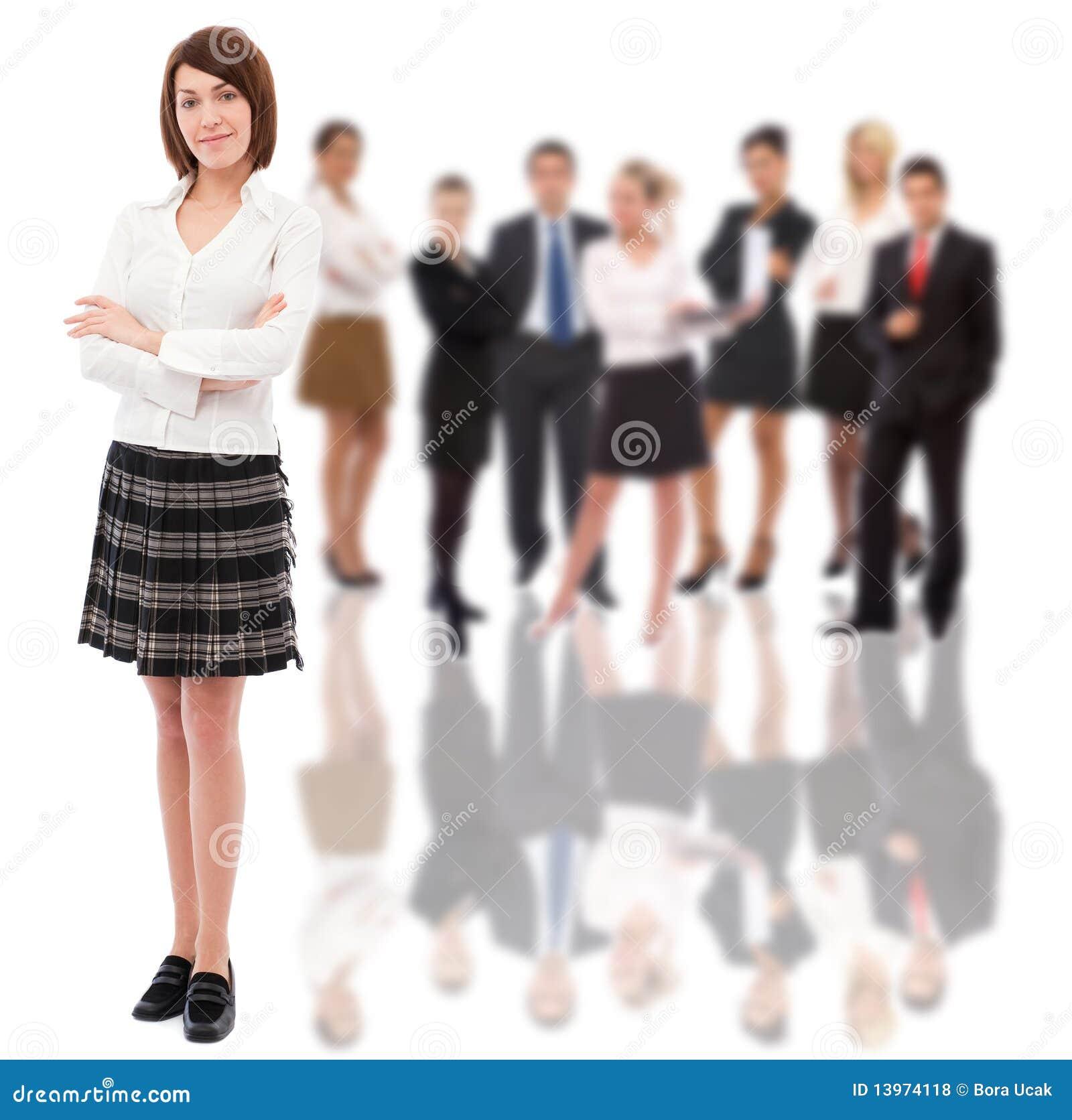 Femme d affaires et son équipe