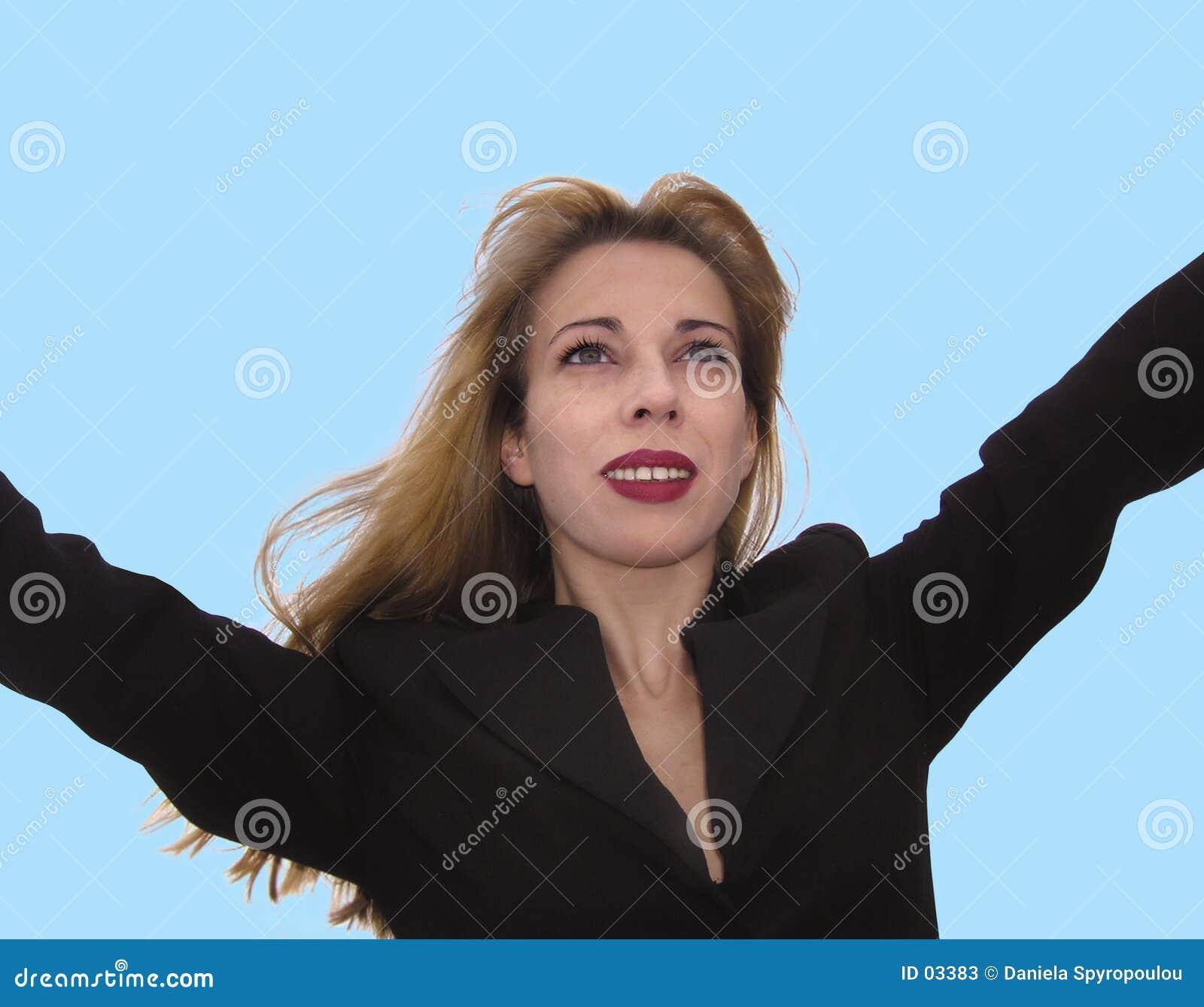Download Femme d'affaires heureuse image stock. Image du businesswoman - 3383
