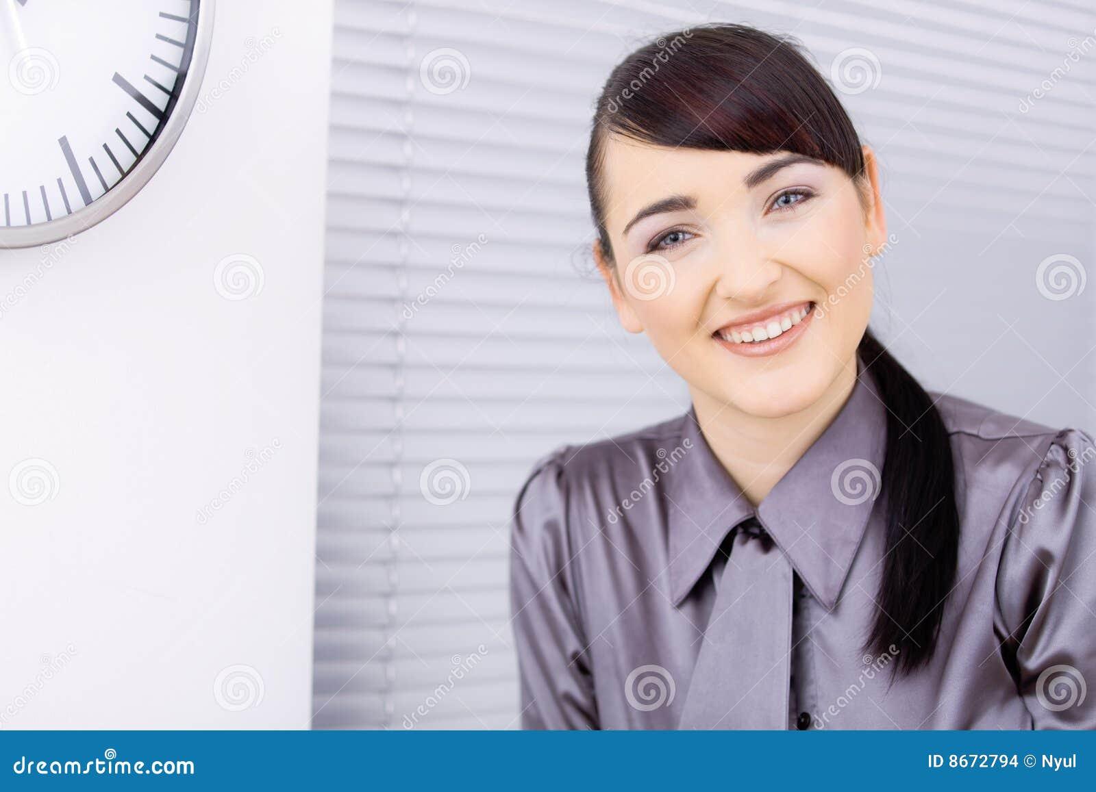 Femme d affaires heureuse
