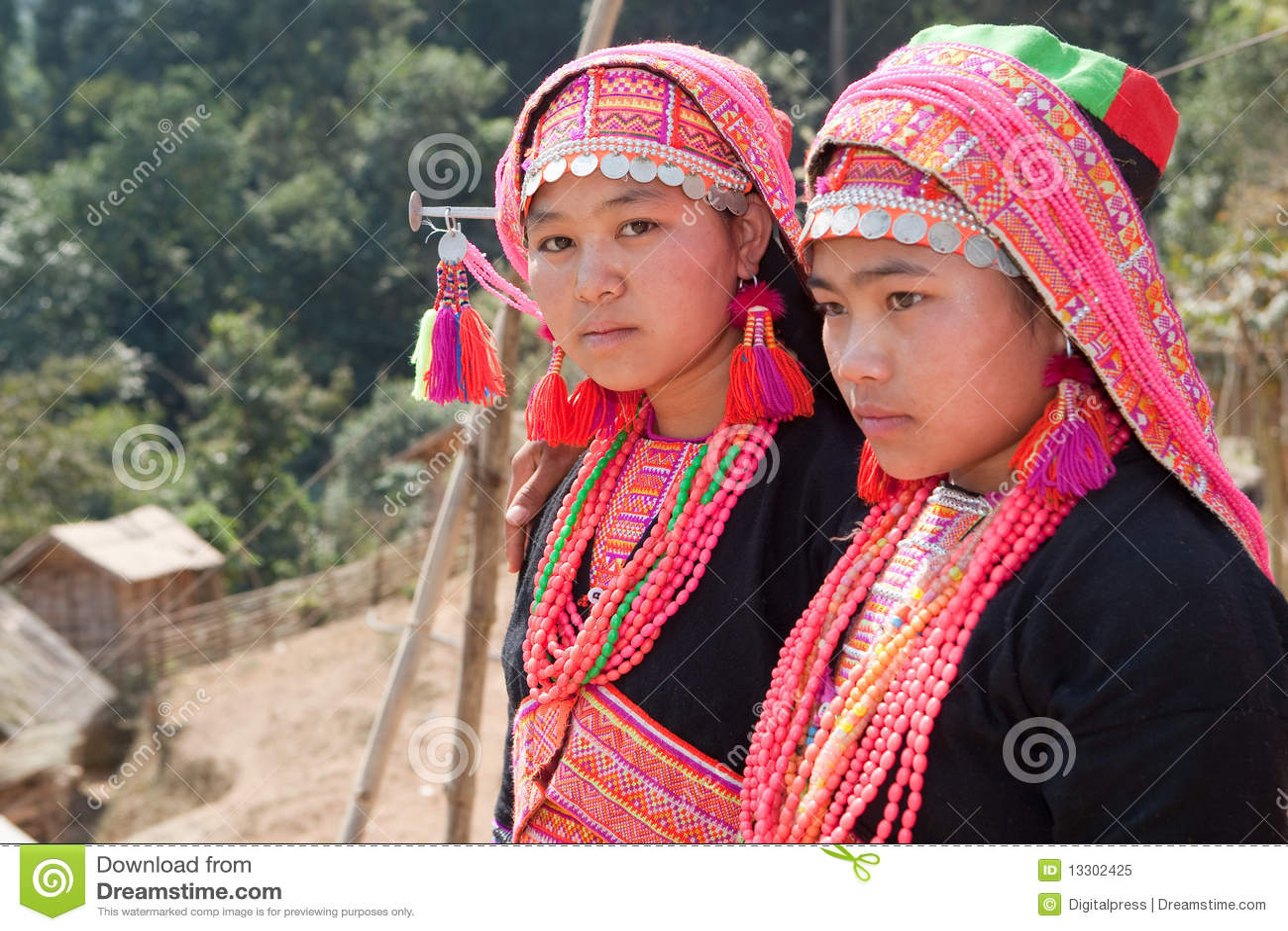 Femme d Akha au Laos