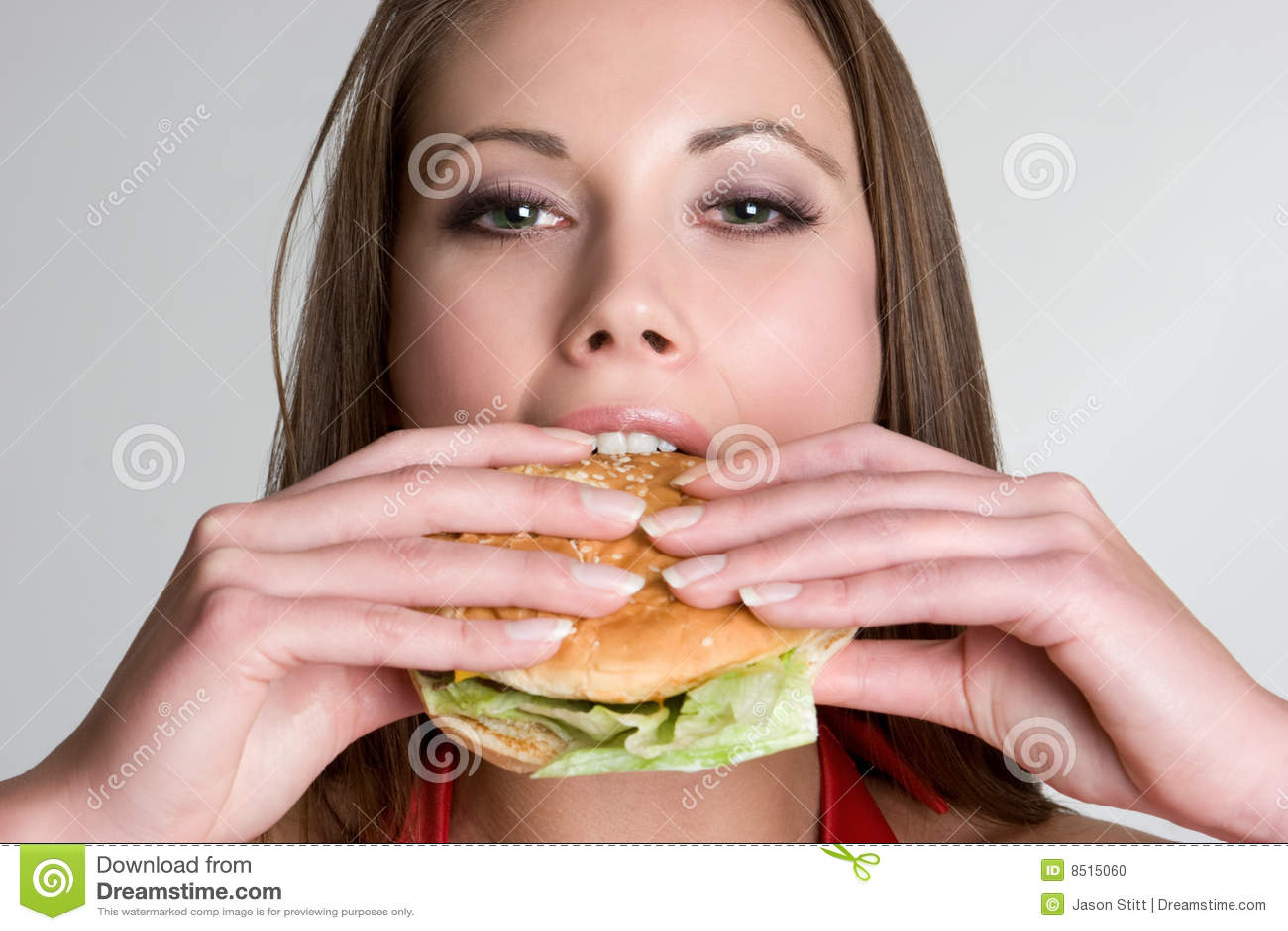 Femme d hamburger