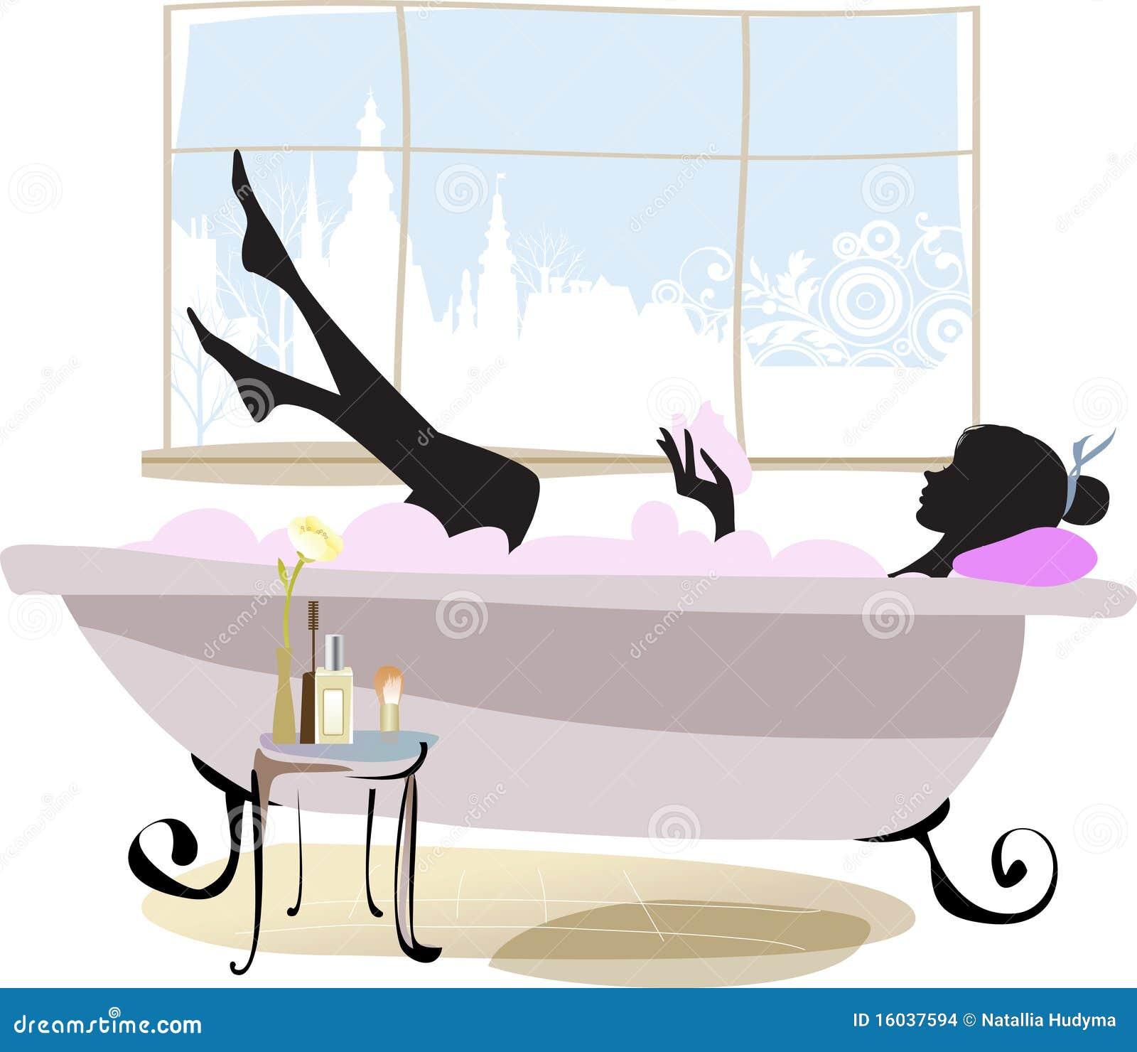 femme dans la baignoire images stock image 16037594. Black Bedroom Furniture Sets. Home Design Ideas