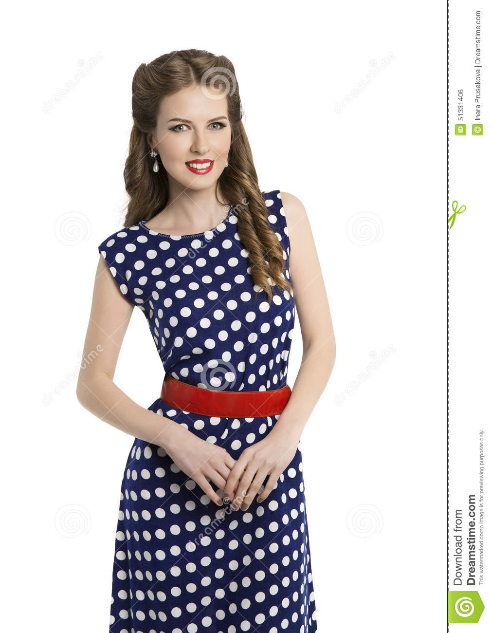 hair pin style femme dans la polka dot dress r 233 tro fille pin up hair 6757