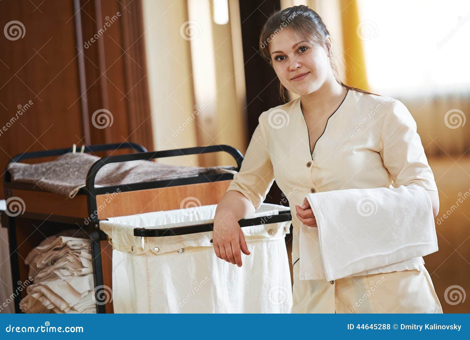 Femme de chambre l 39 h tel photo stock image du entretien - Femmes de chambre synonyme ...
