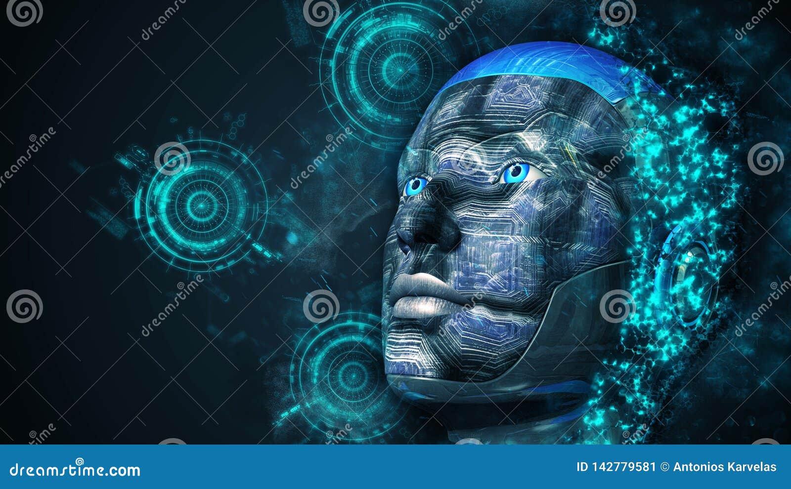Femme de cyborg - humanoïde