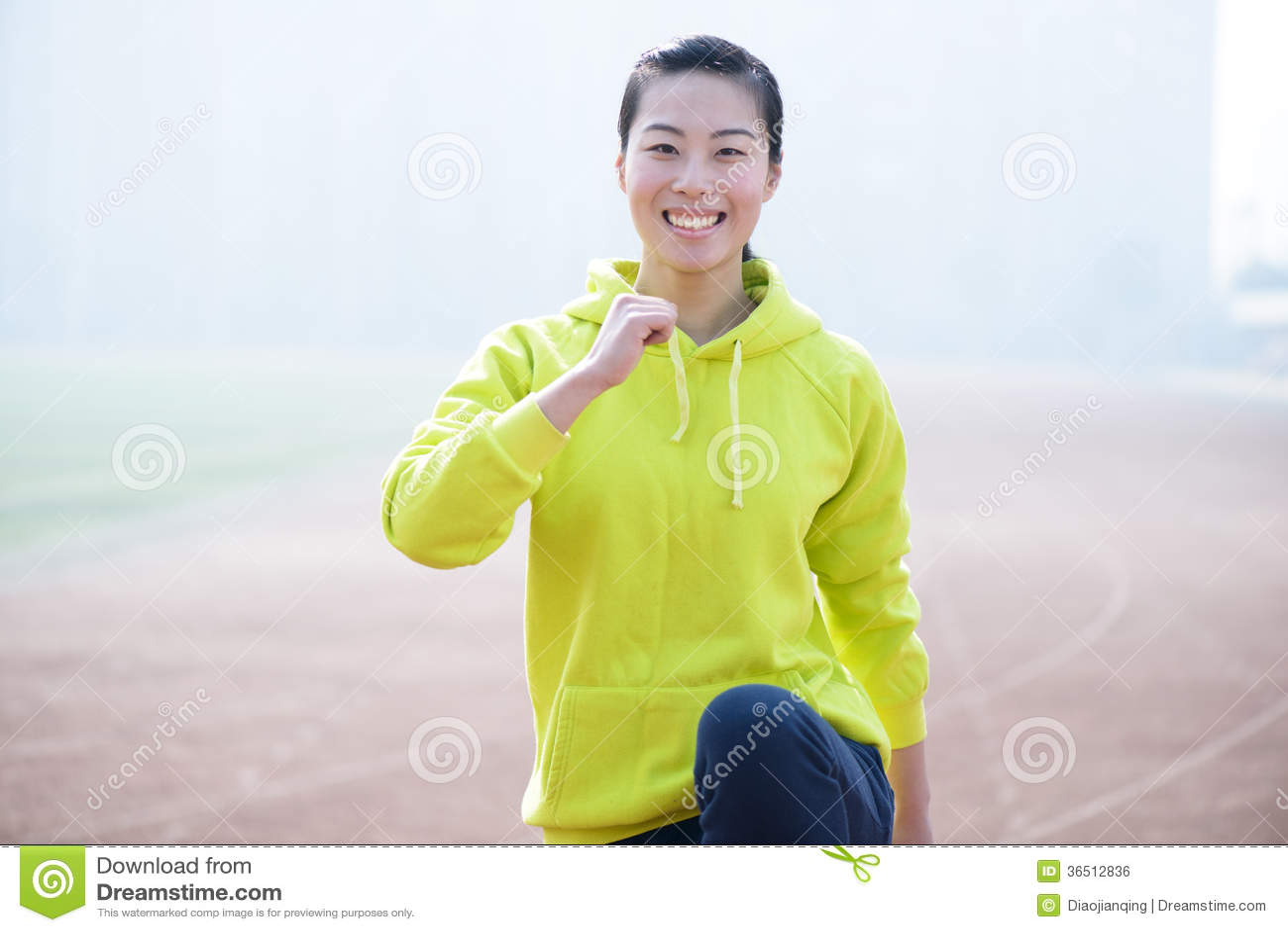 Femme de forme physique de sport, exercice sportif de fille