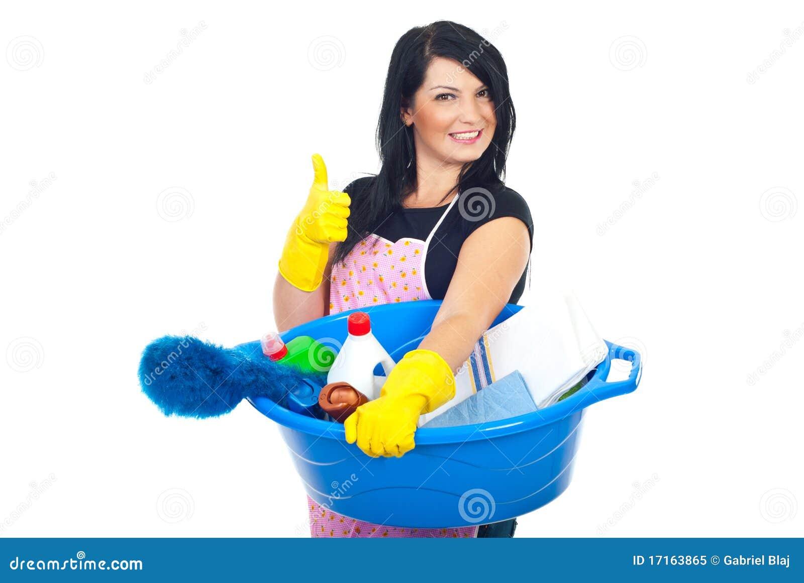 Femme de nettoyage réussie
