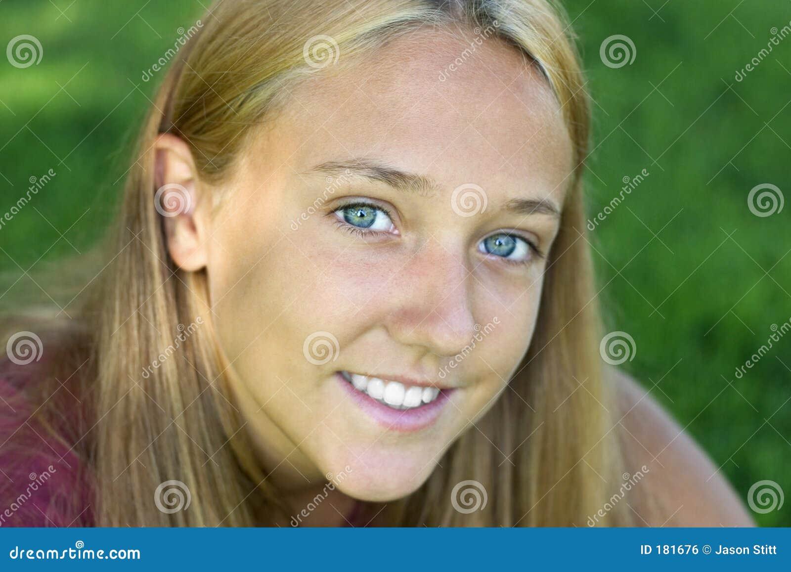 Femme de sourire