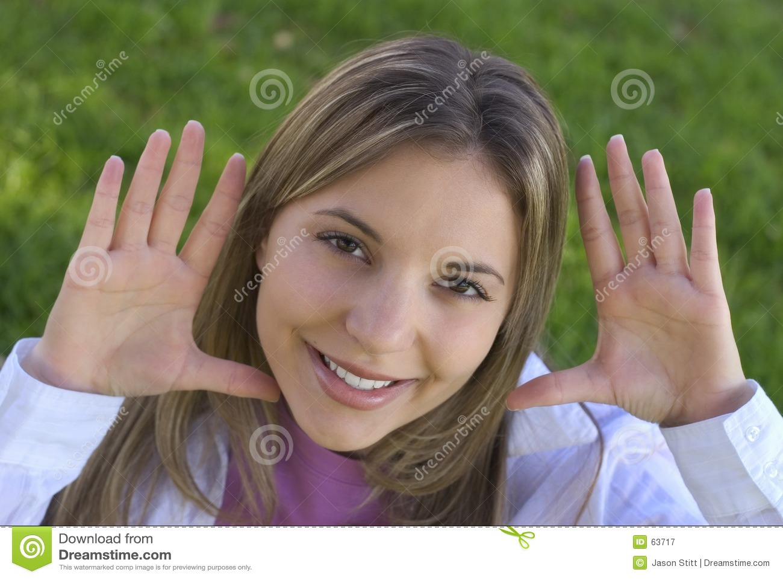 Download Femme de sourire image stock. Image du adolescent, people - 63717
