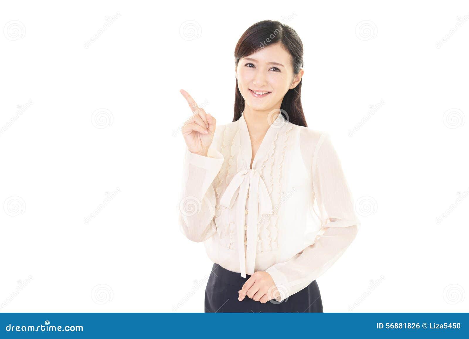 Femme de sourire d affaires