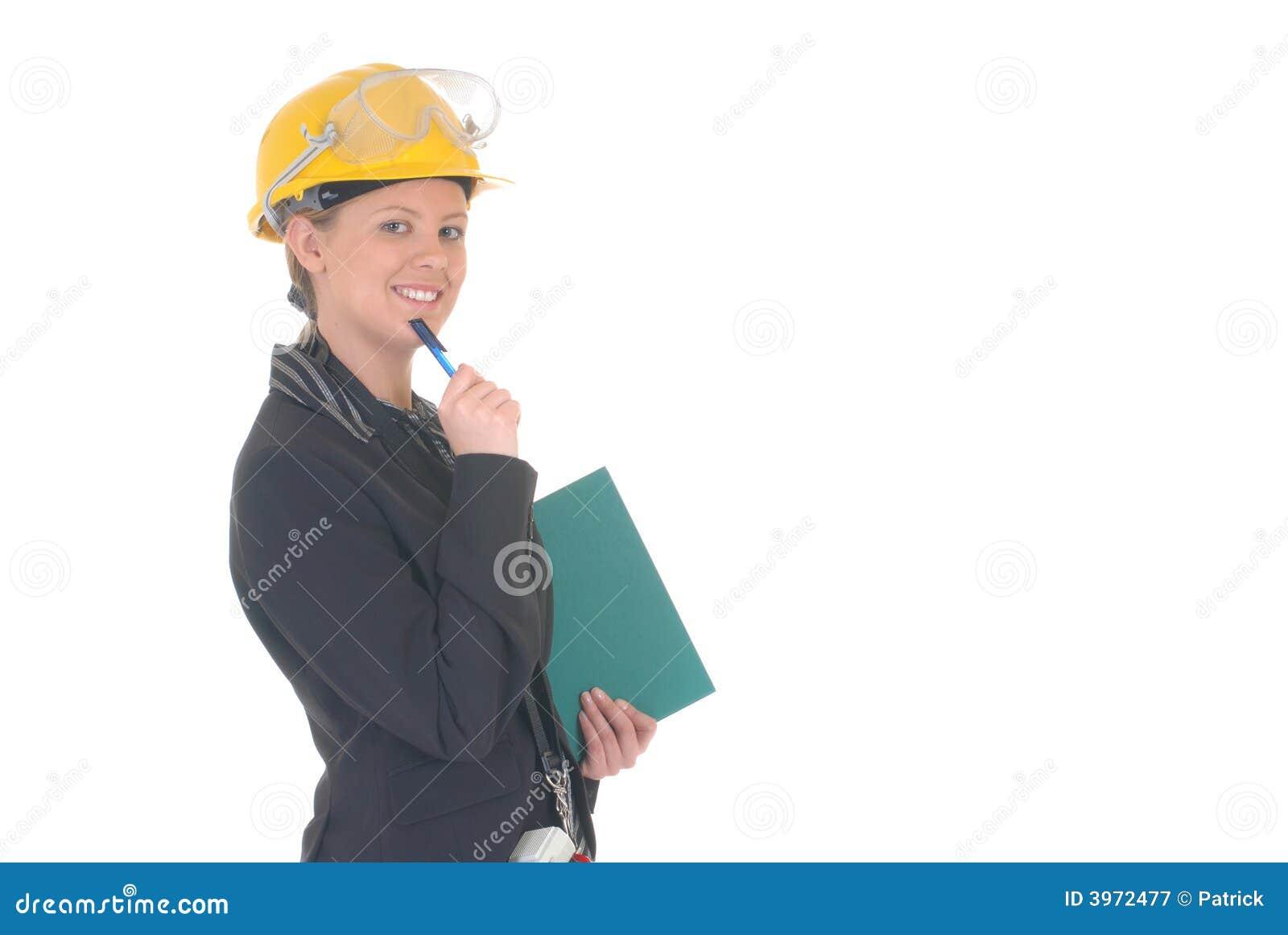 Femme de superviseur de construction