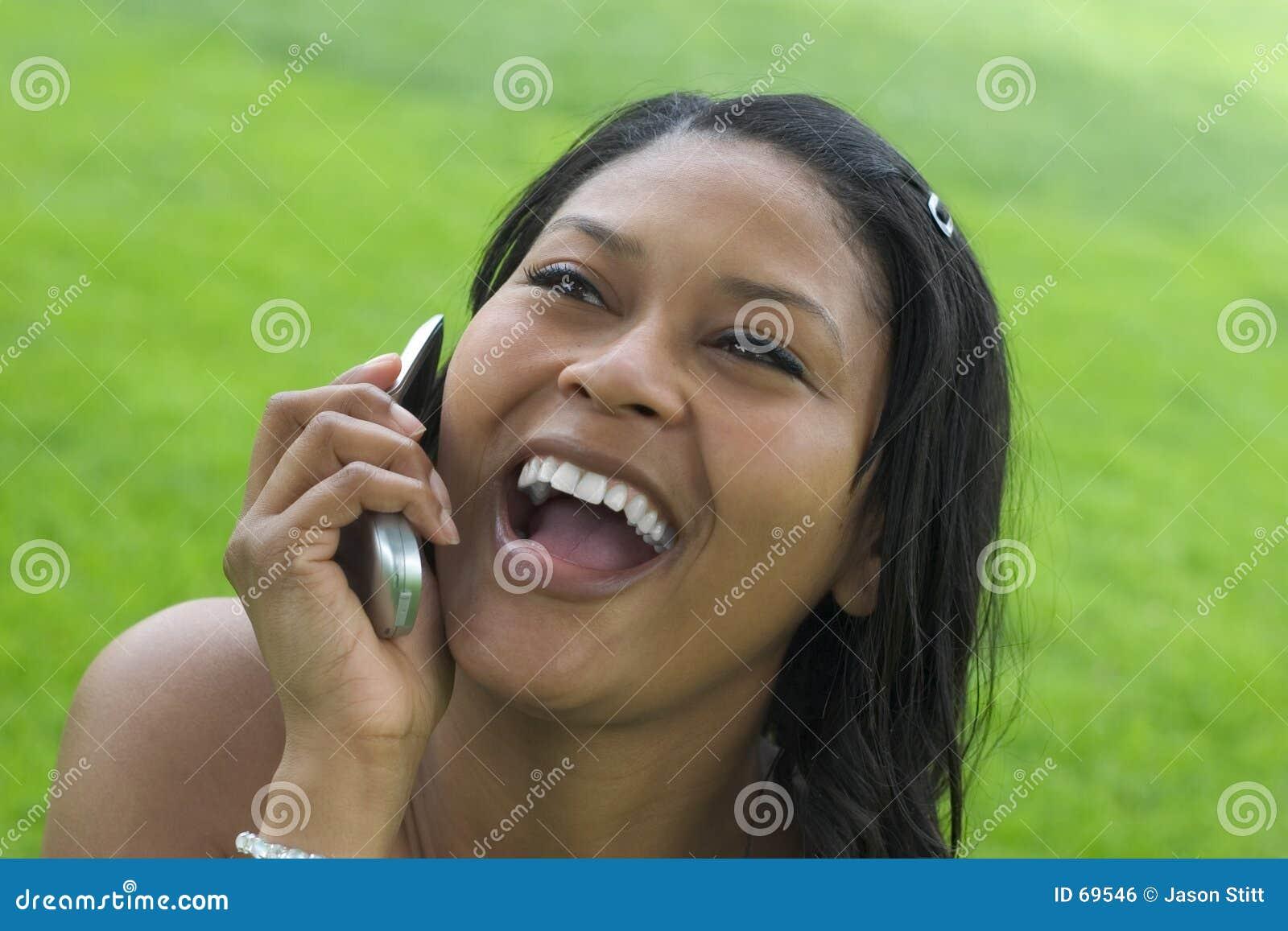 Femme de téléphone