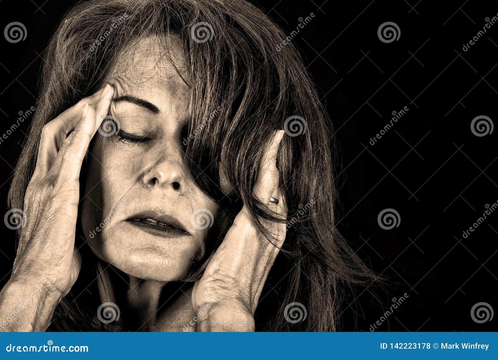 Femme en douleur