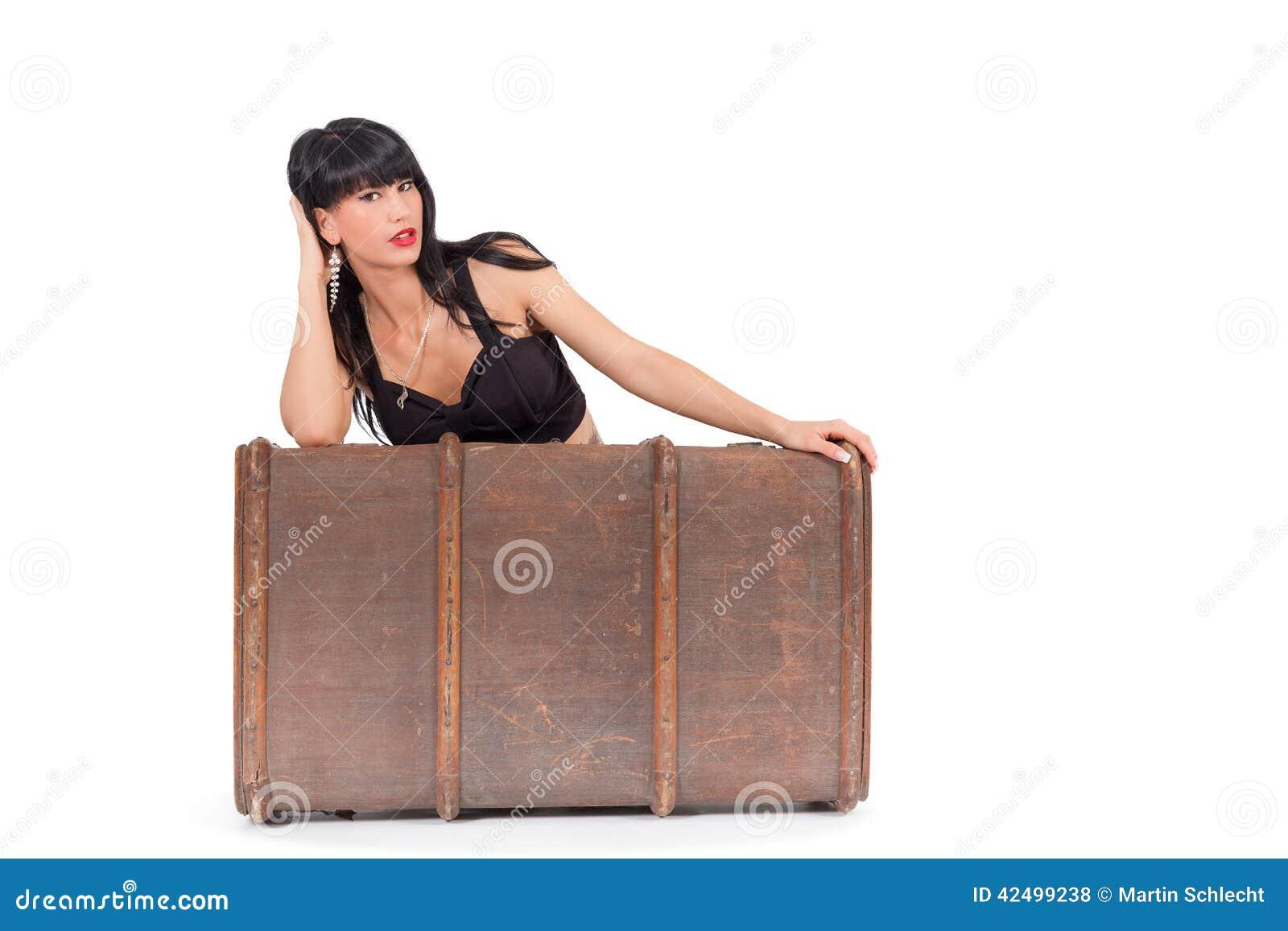 Femme et bagage