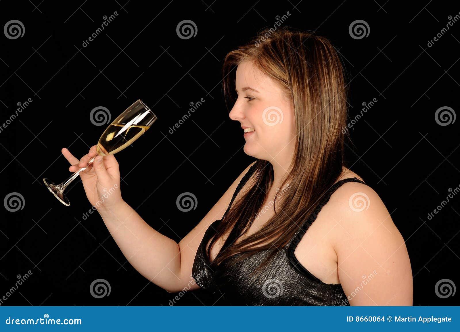 Femme et vin