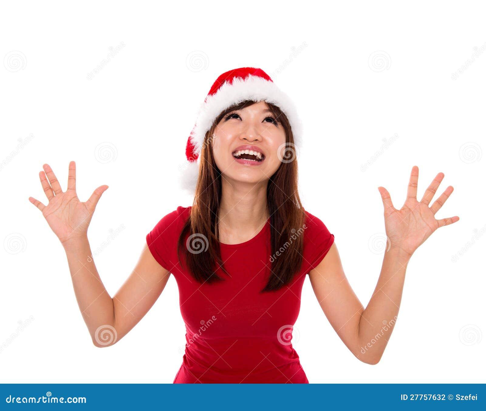 Femme Excited de Santa