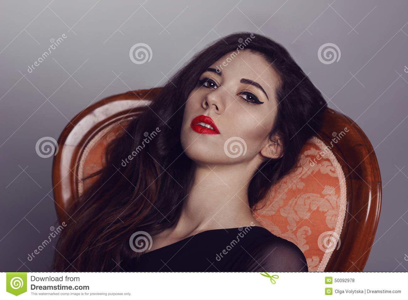 femme fatale woman with fashion makeup black arrows and stock photo image of sensual model. Black Bedroom Furniture Sets. Home Design Ideas