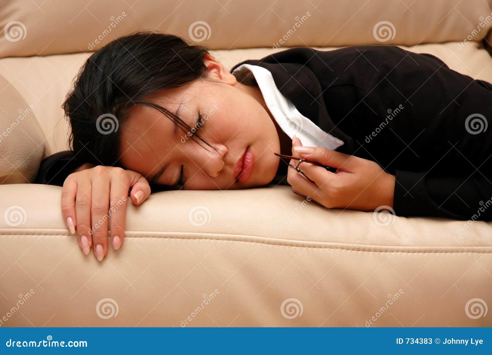 Femme fatigué