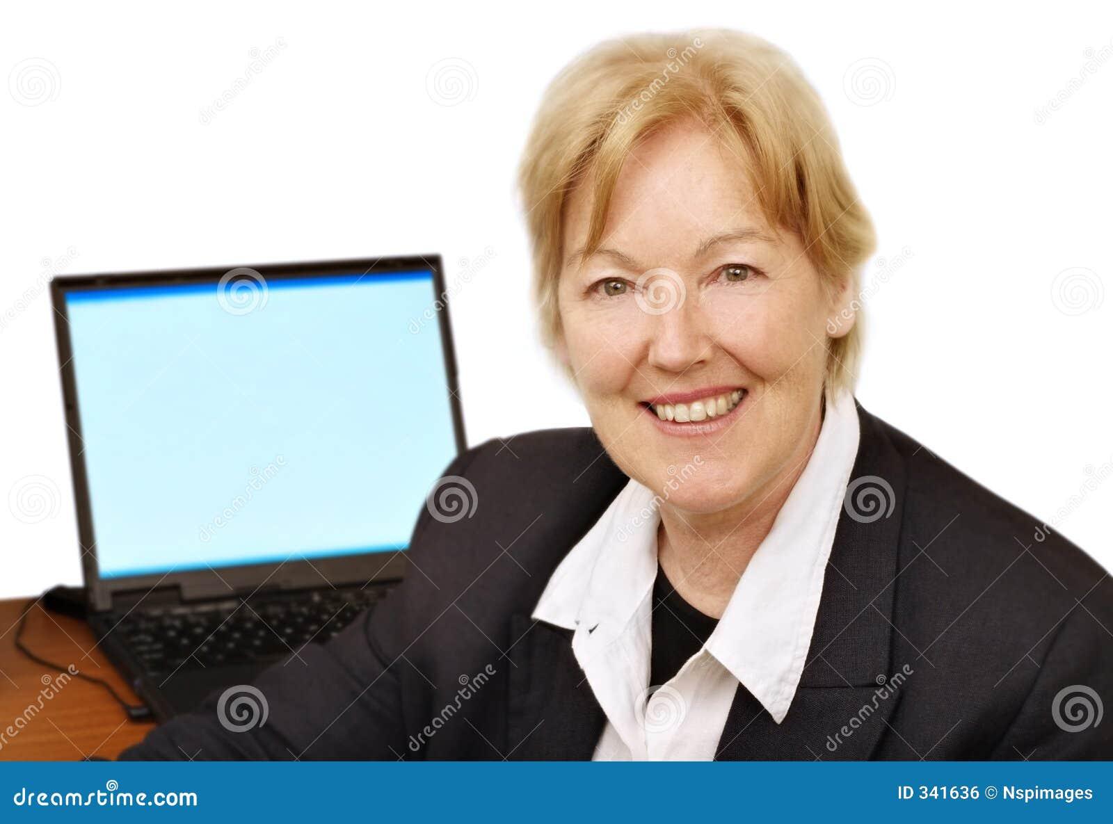 Femme heureuse d affaires III