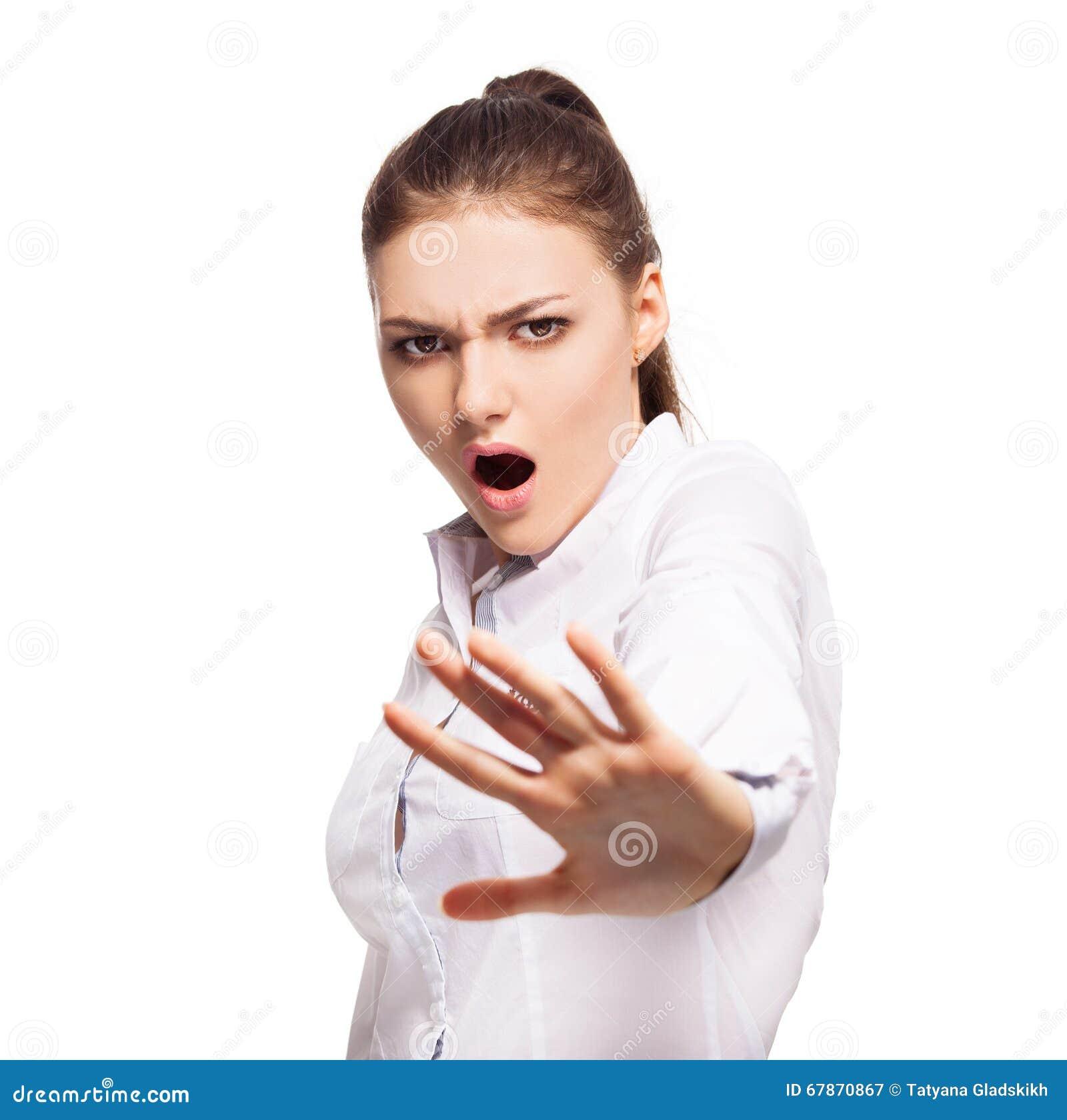 femme m contente couvrant le visage de sa main photo stock image 67870867. Black Bedroom Furniture Sets. Home Design Ideas