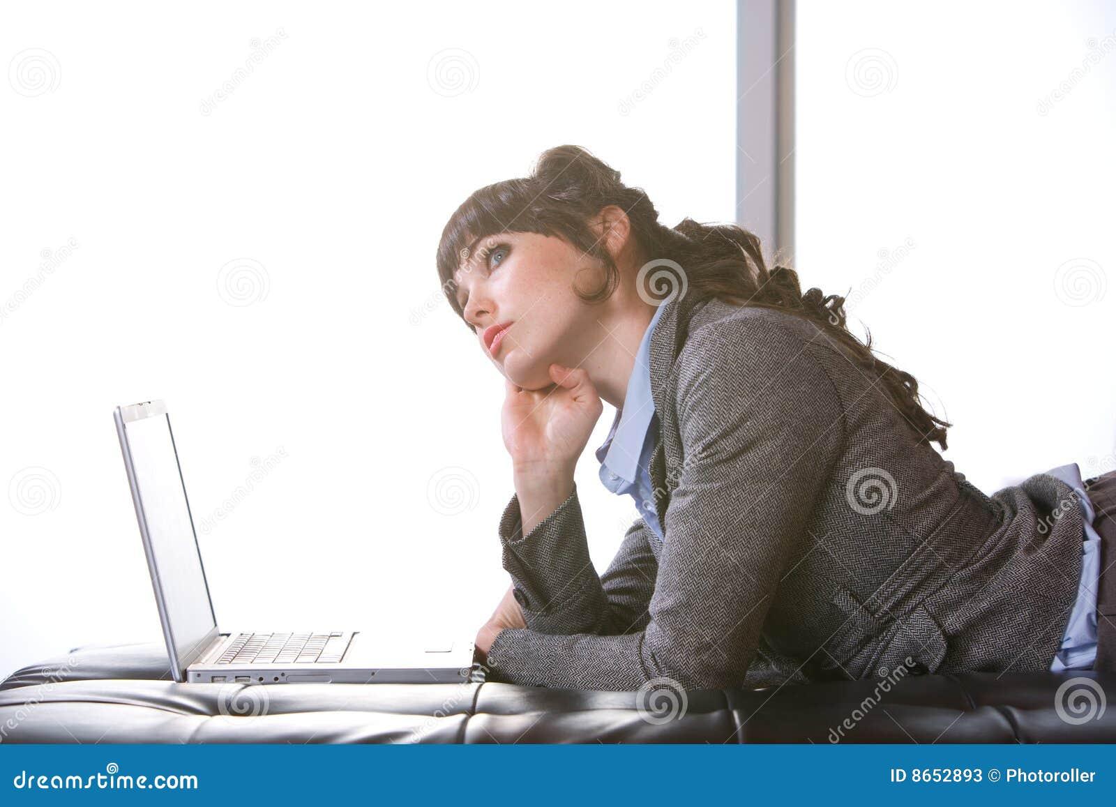 Femme moderne de bureau d affaires