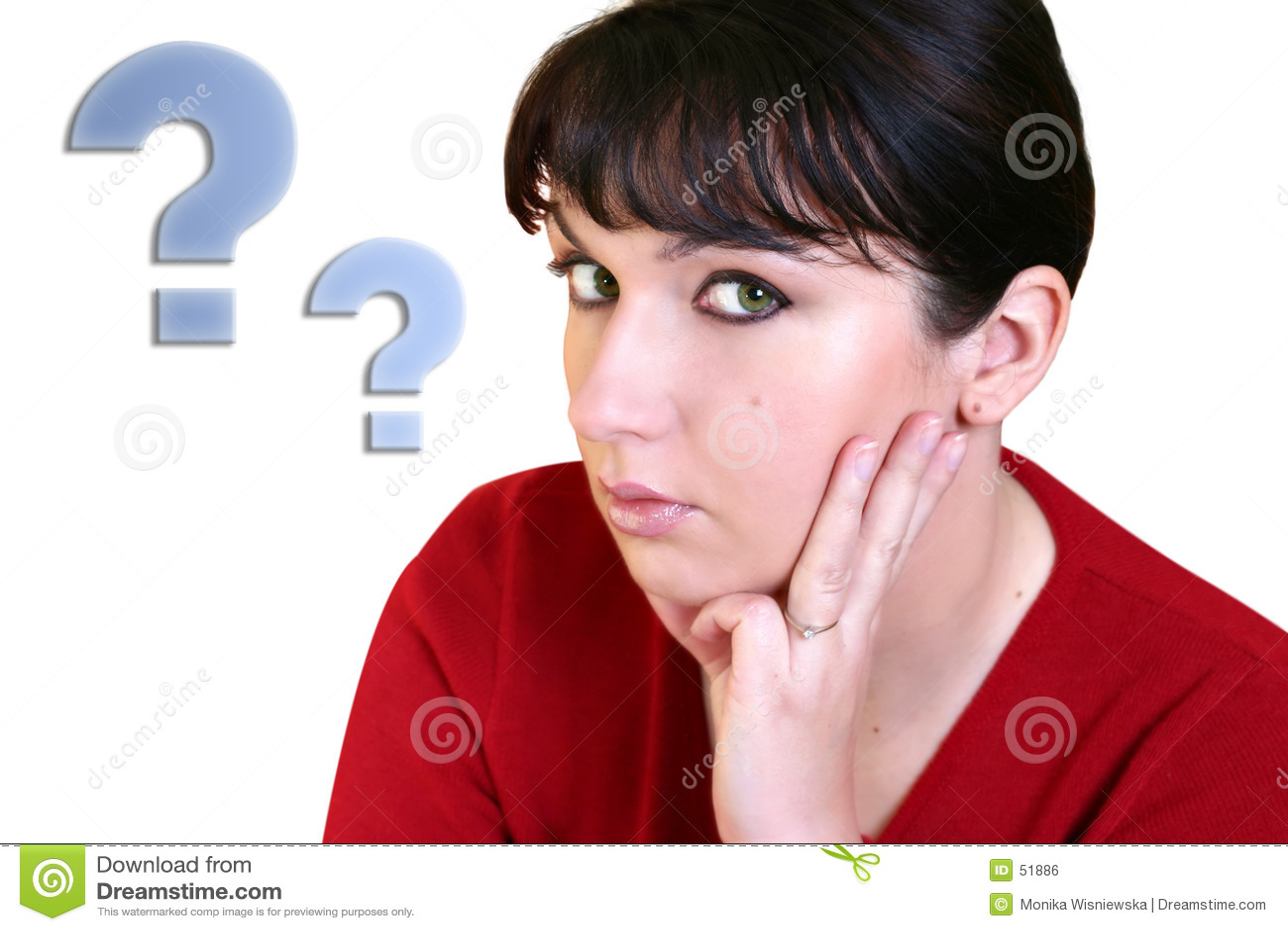 Download Femme pensant photo stock. Image du adultes, femme, dame - 51886