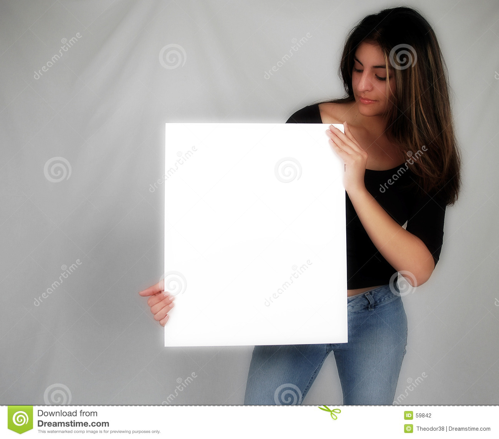 Download Femme retenant un board-8 photo stock. Image du occasionnel - 59842