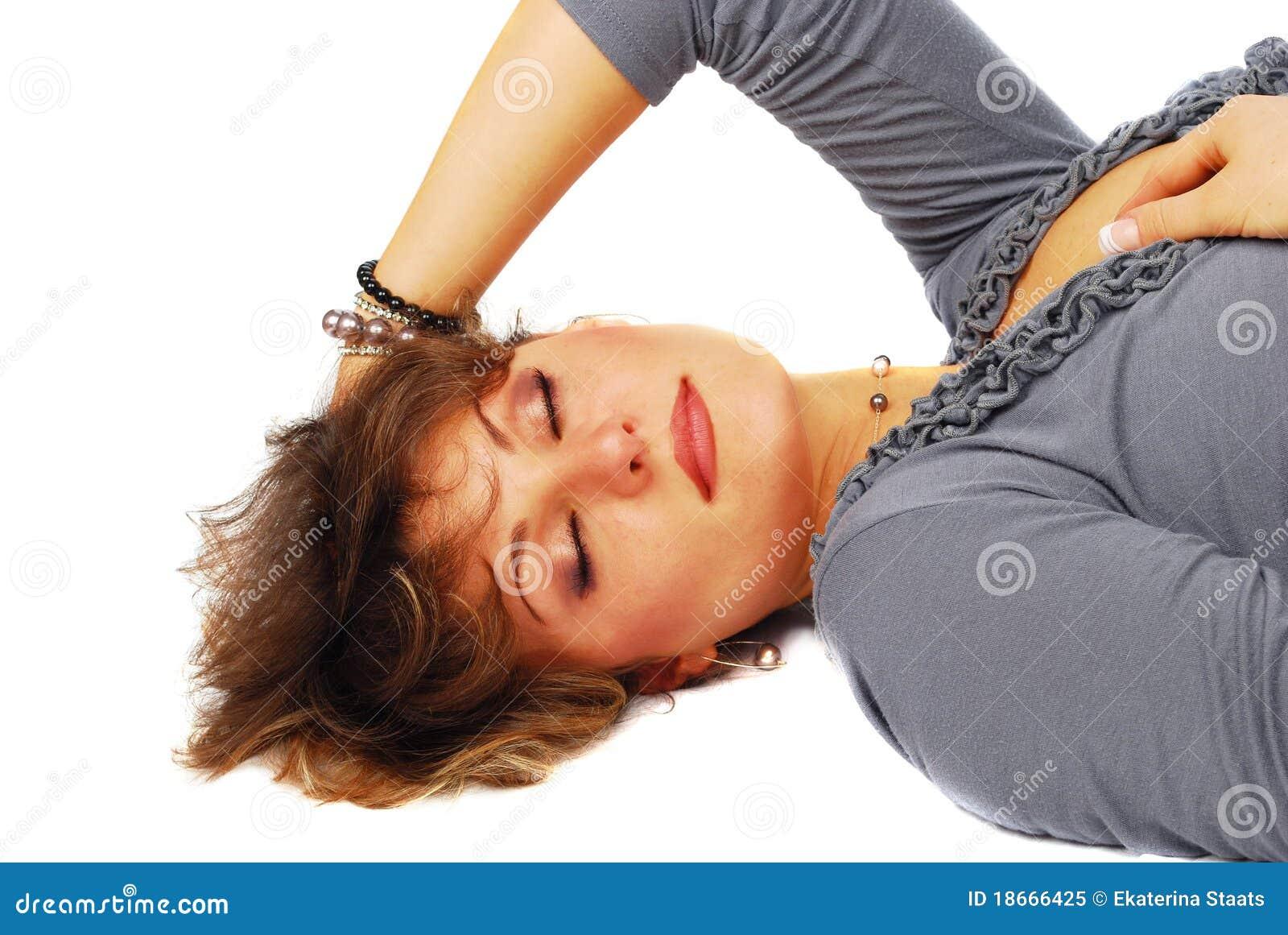 Femme somnolent