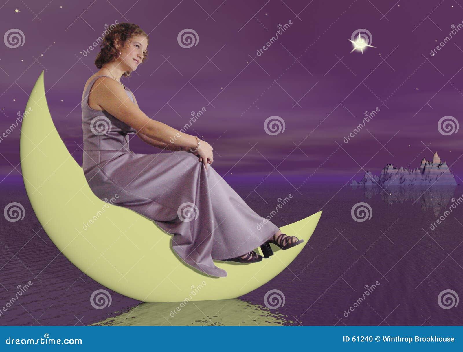 Femme sur la lune