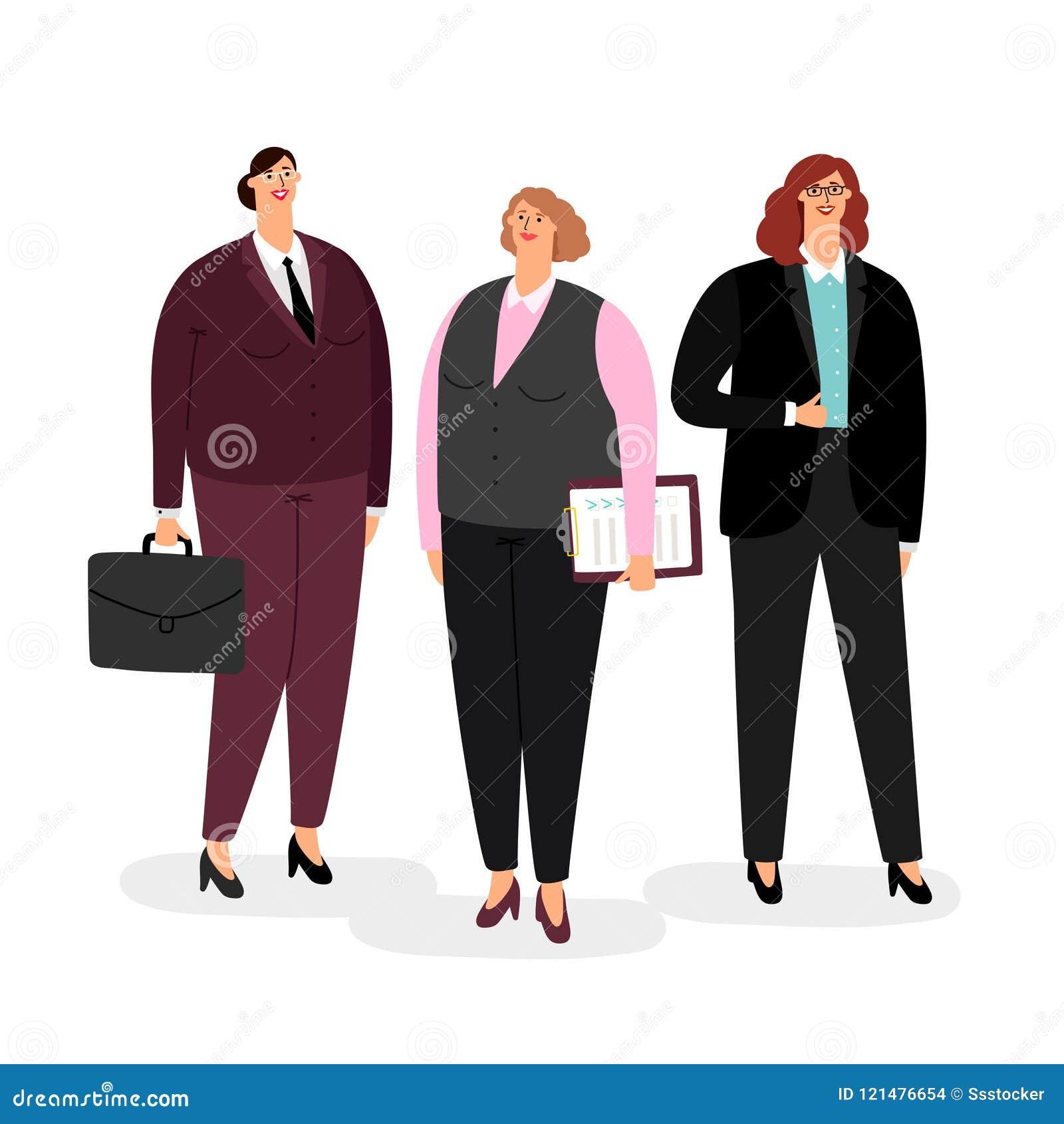 Femmes d affaires réglées sur le blanc
