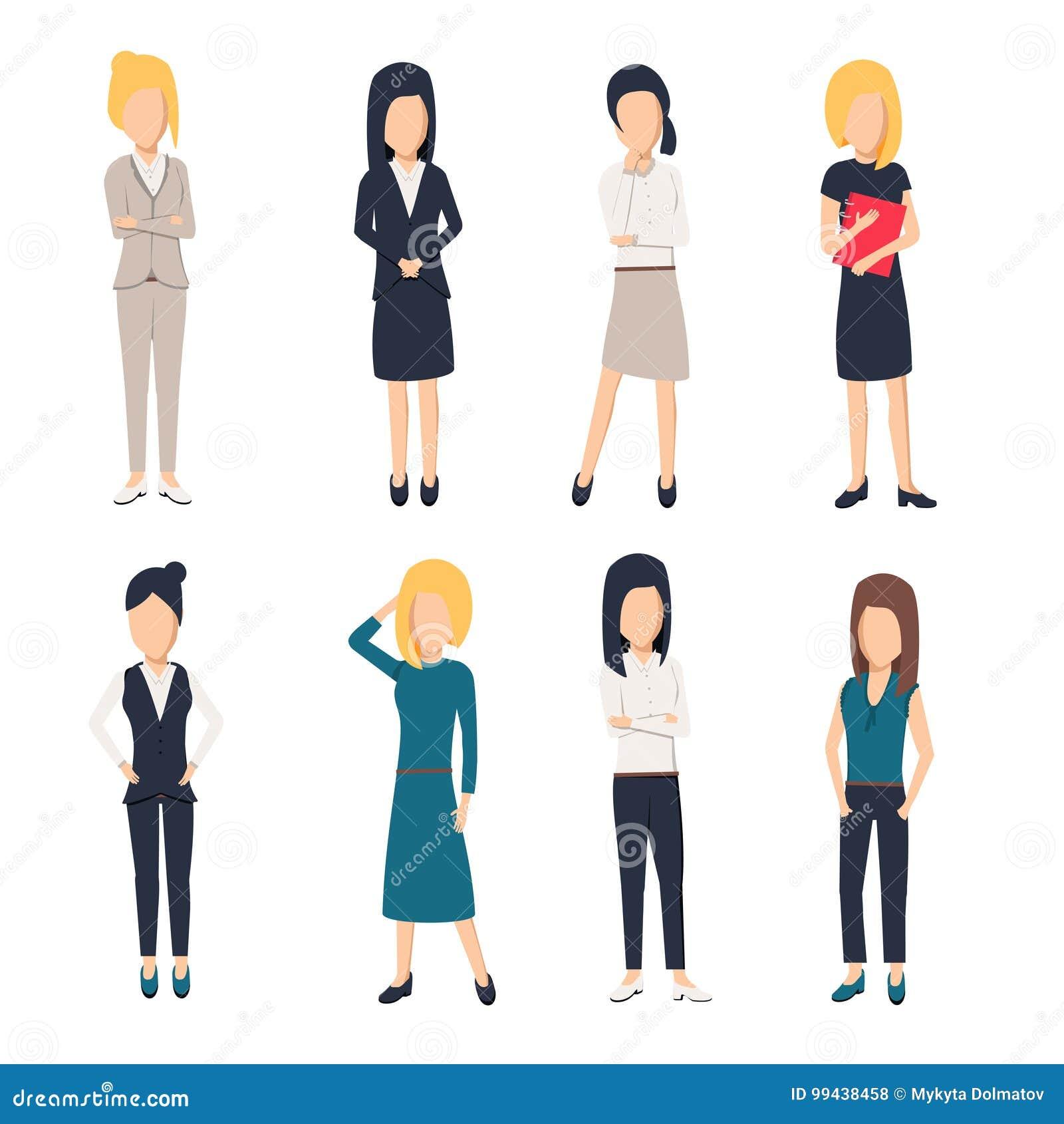 Femmes dans des vêtements de bureau Belle femme dans des vêtements d affaires Les femmes d affaires décrivent,