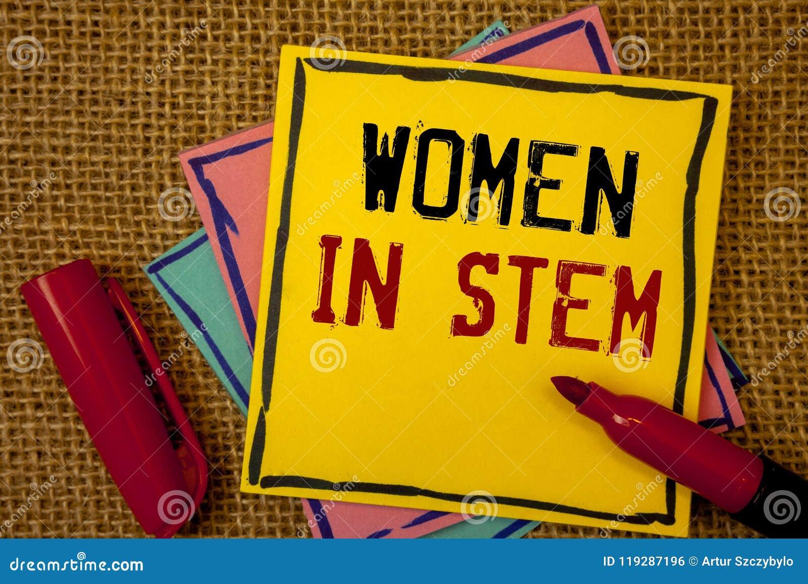 Femmes des textes d écriture dans la tige Scientifique Research de mathématiques d ingénierie de technologie de la Science de sig