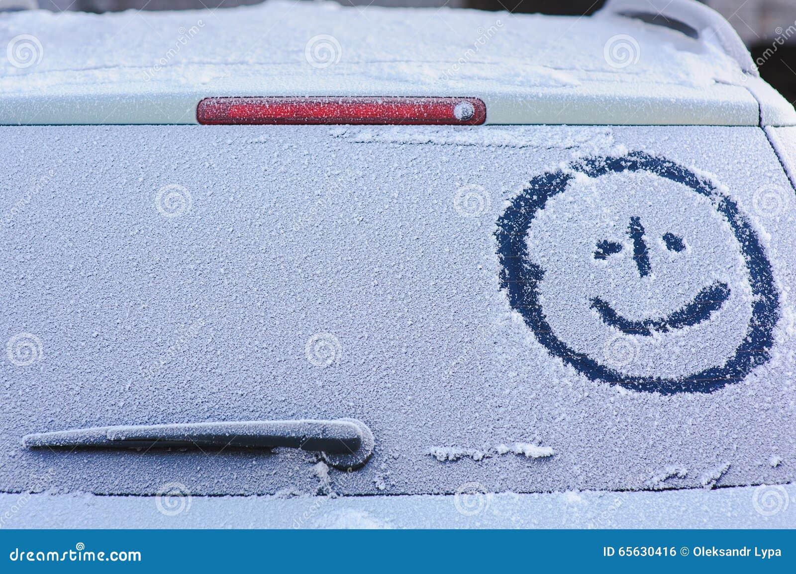 Fenêtre arrière congelée
