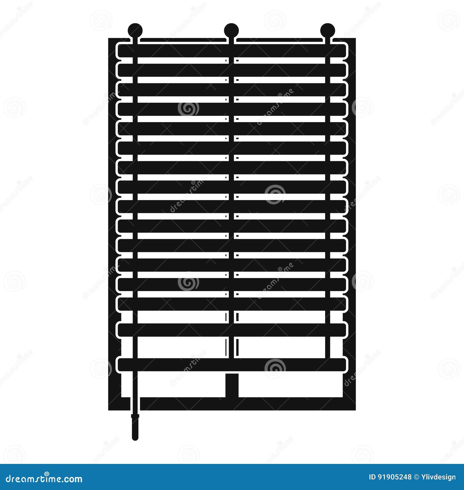 Fenêtre Avec Licône En Bois De Jalousie Simple Illustration De