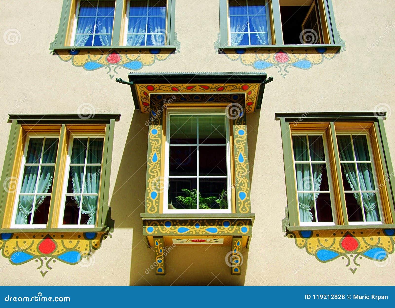 Fenêtre, Bâtiment, Architecture, Maison, Mur, Fenêtres, Vieilles ...
