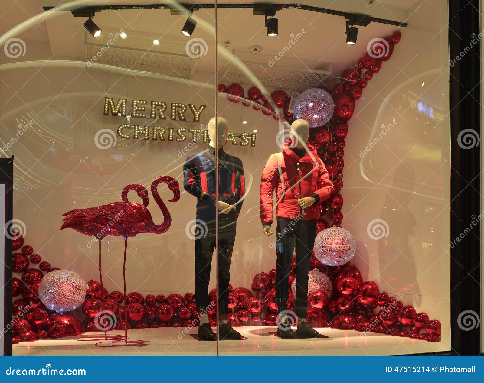 Fen tre de boutique d 39 habillement de joyeux no l viseur for Habillement de fenetre