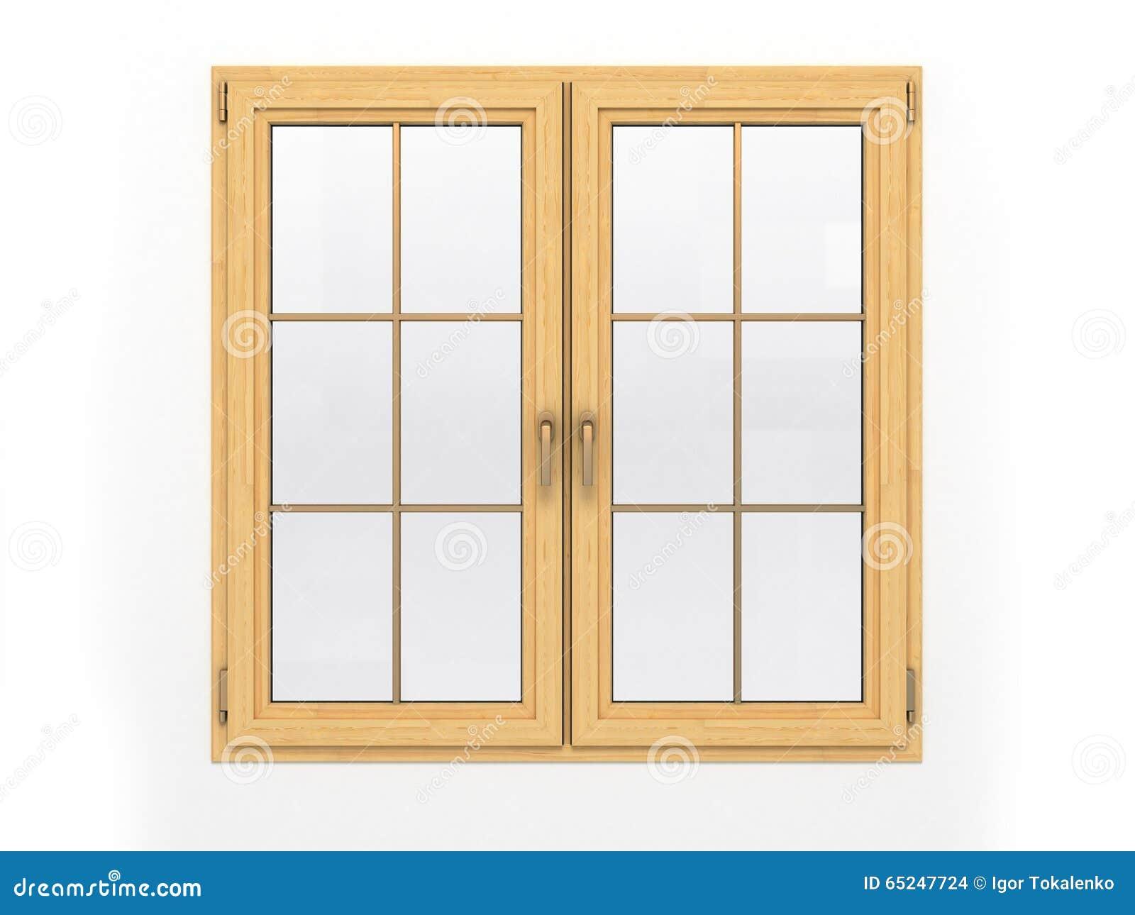 fen tre en bois ferm e sur le fond blanc illustration stock illustration du ouvert l ment. Black Bedroom Furniture Sets. Home Design Ideas